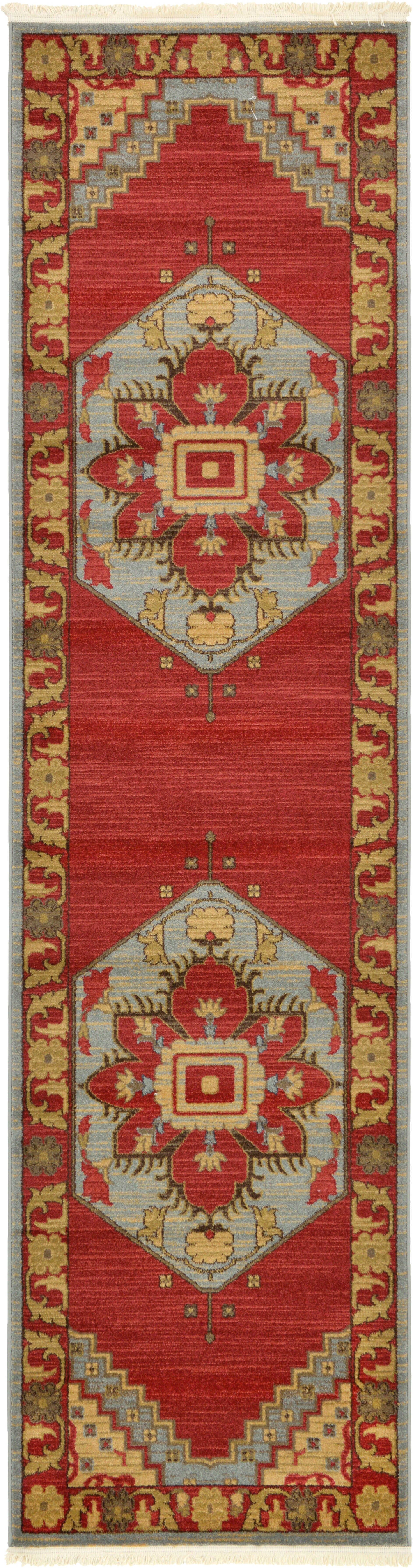 Jana Red Oriental Area Rug Rug Size: Runner 2'7