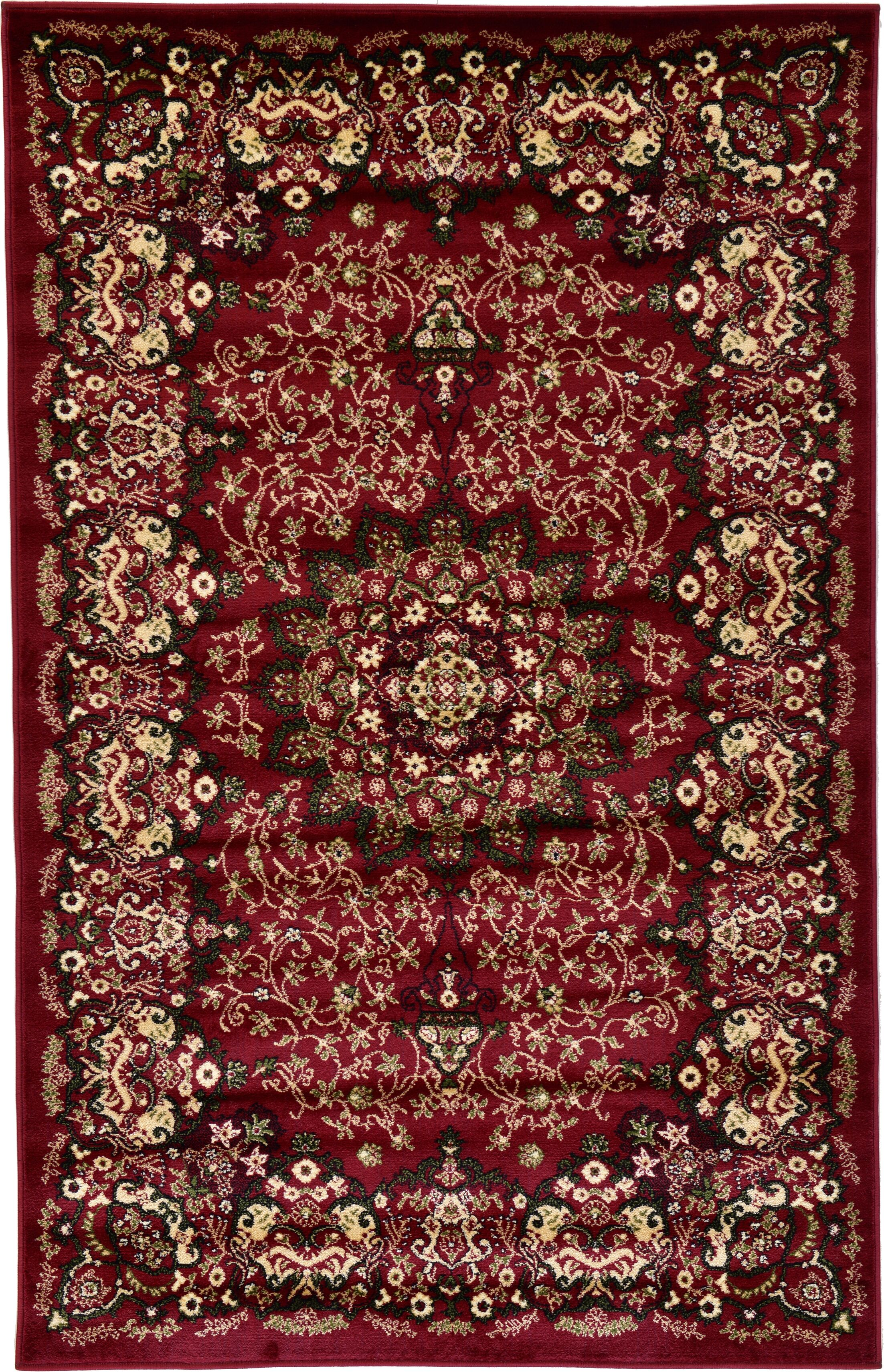 Astral Red Area Rug Rug Size: Rectangle 8' x 10'