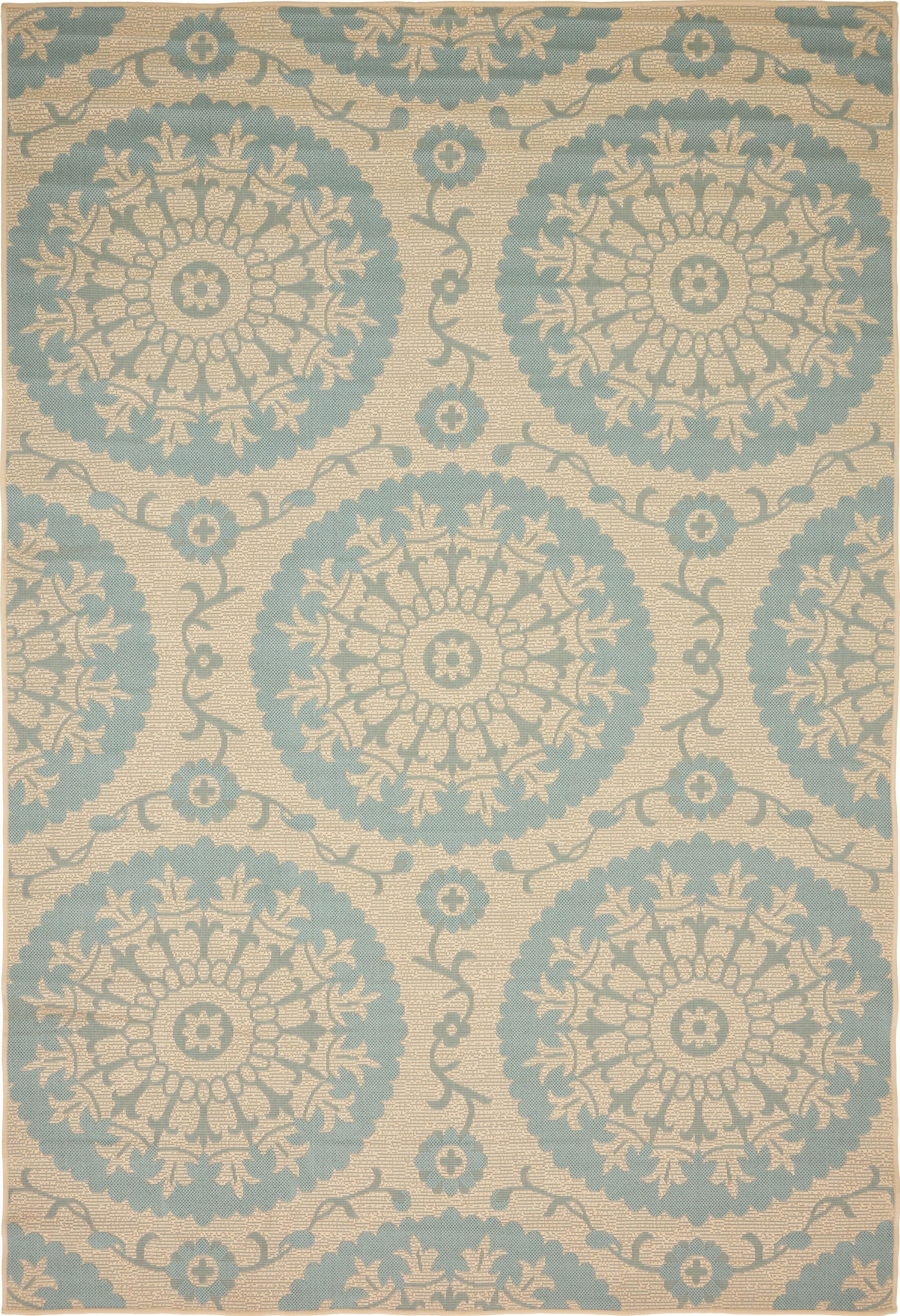 Keough Beige Outdoor Area Rug Rug Size: Rectangle 6' x 9'