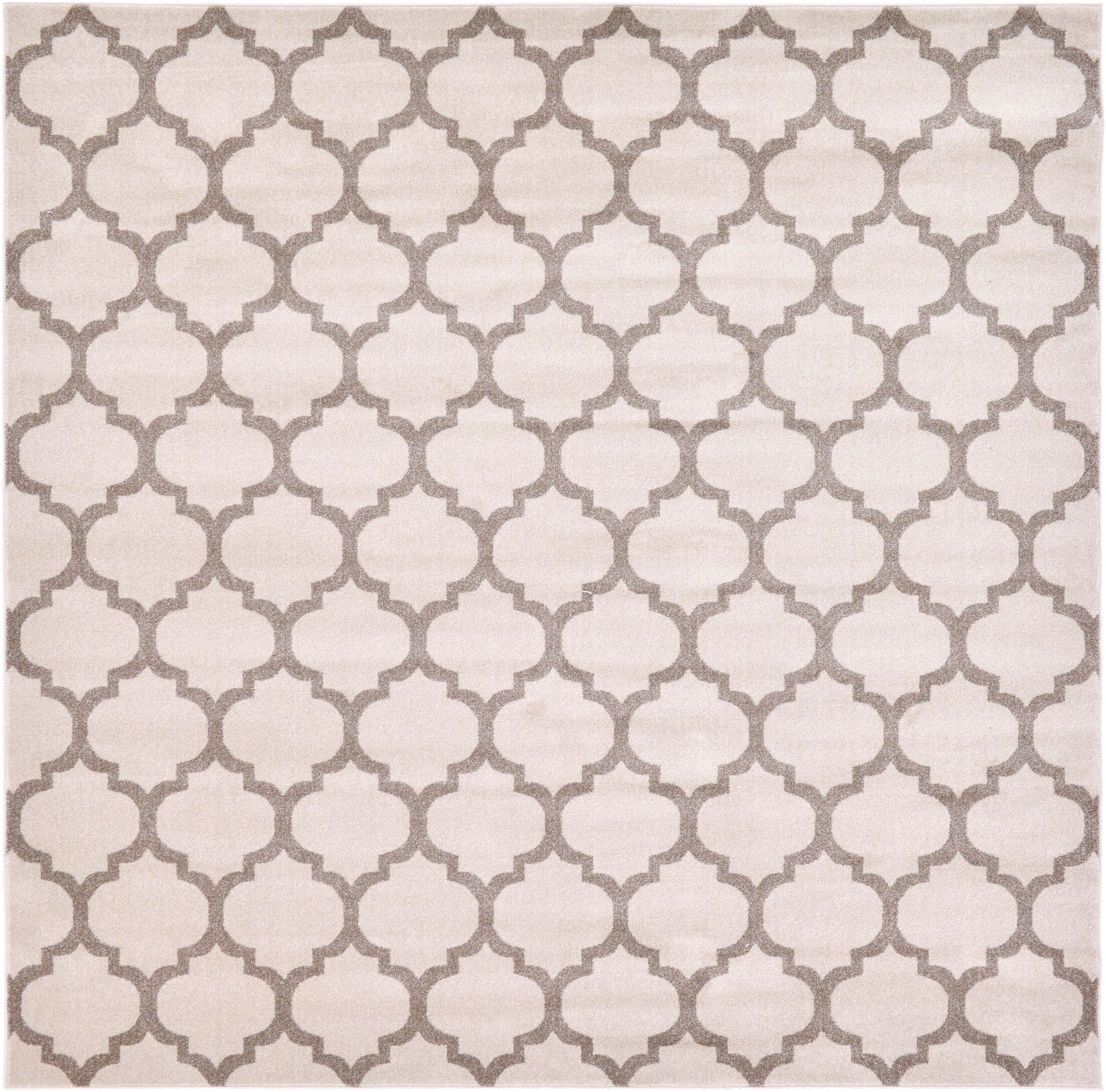 Moore Beige & Tan Area Rug Rug Size: Square 10'