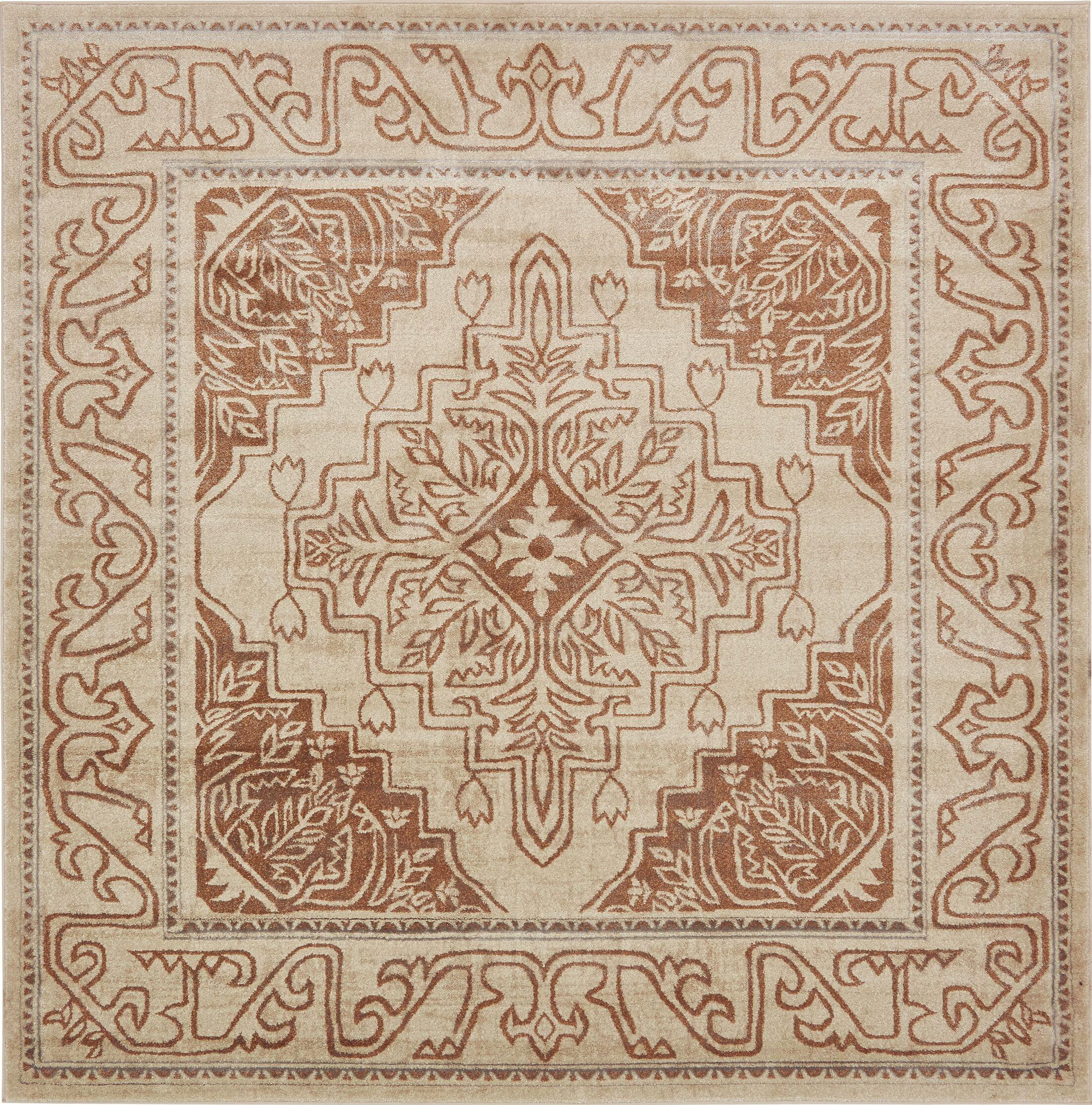 Cadencia Brown Area Rug Rug Size: Square 8'