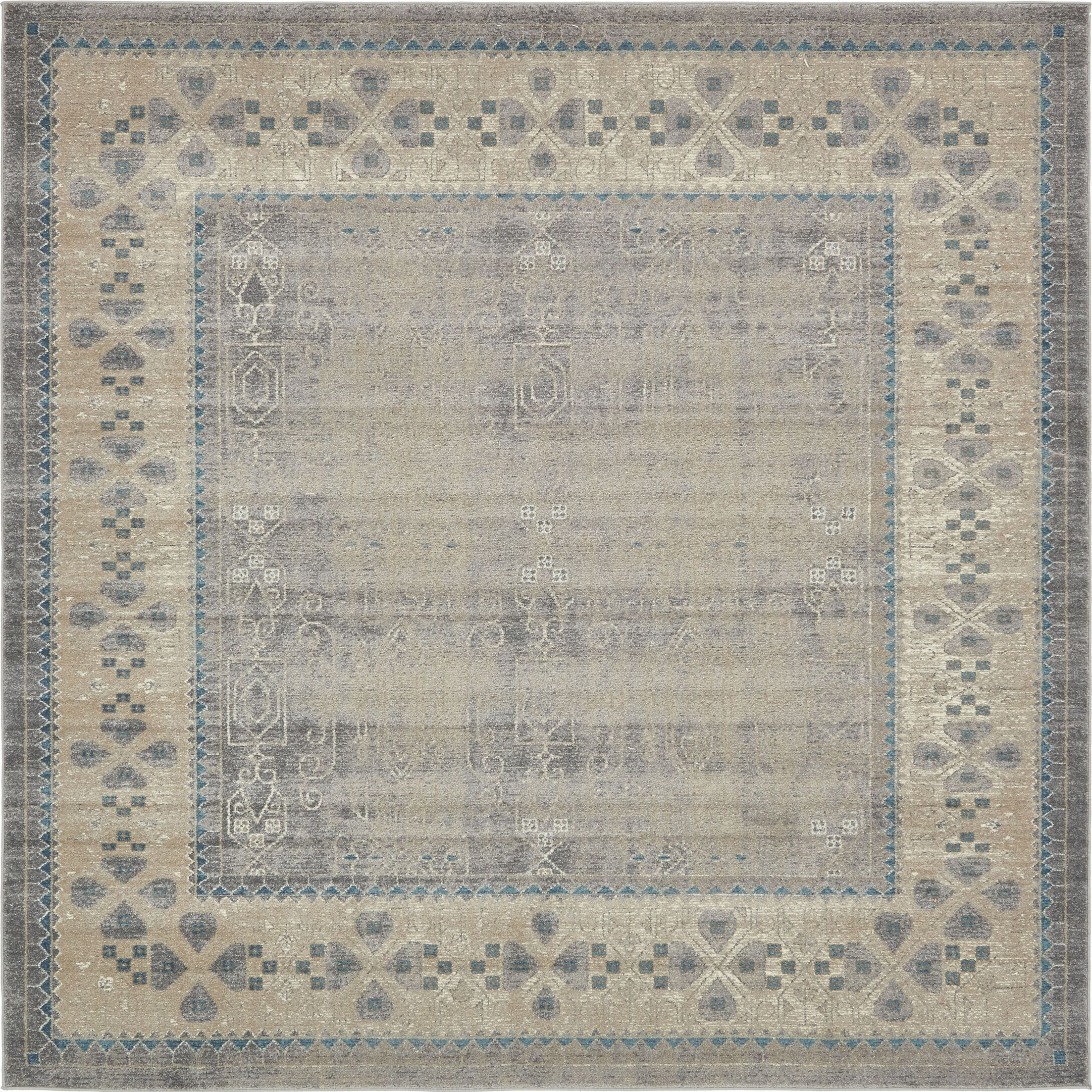 Brierfield Gray Area Rug Rug Size: Square 4' x 4'