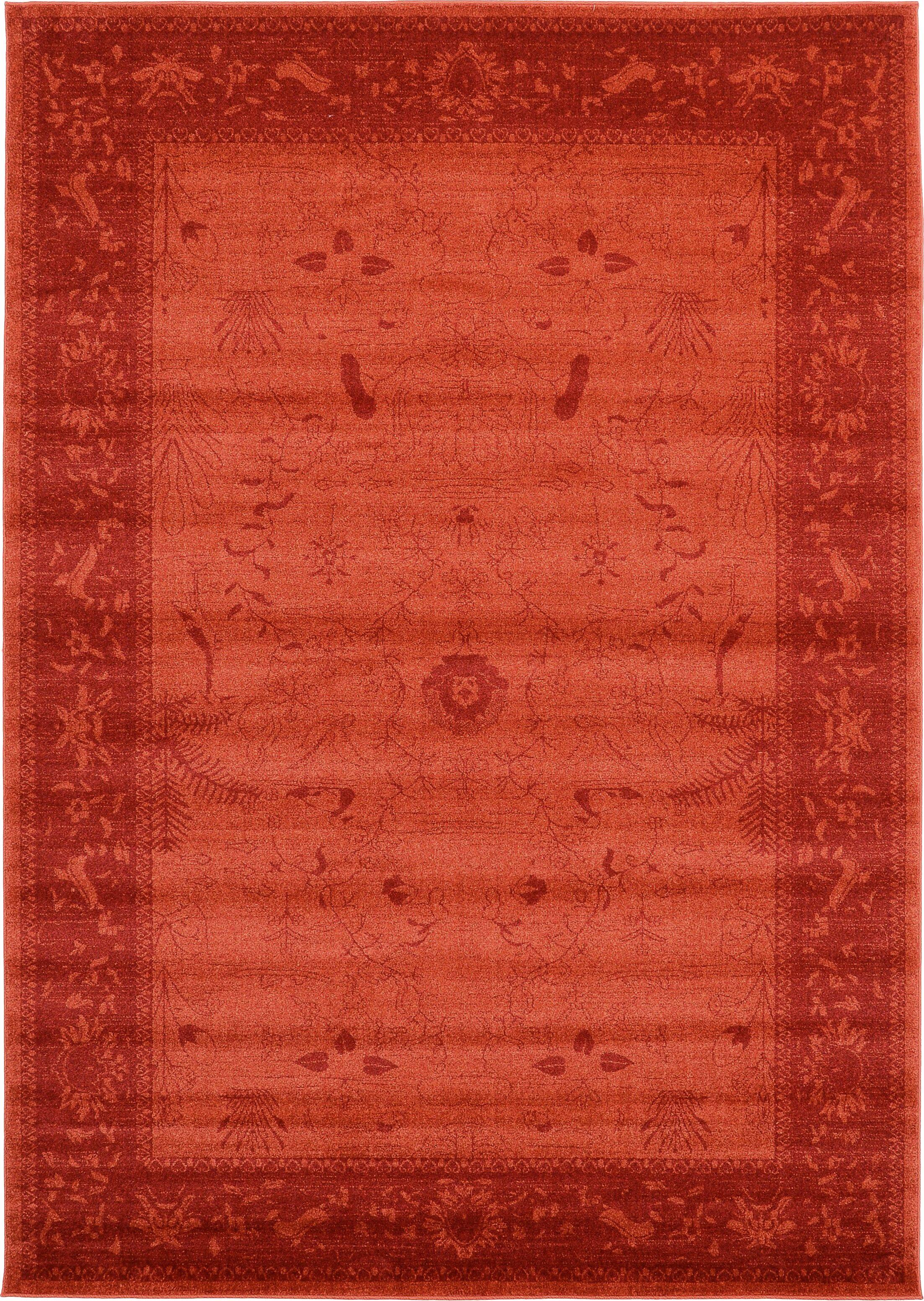 Shailene Rust Red Area Rug Rug Size: Rectangle 7' x 10'
