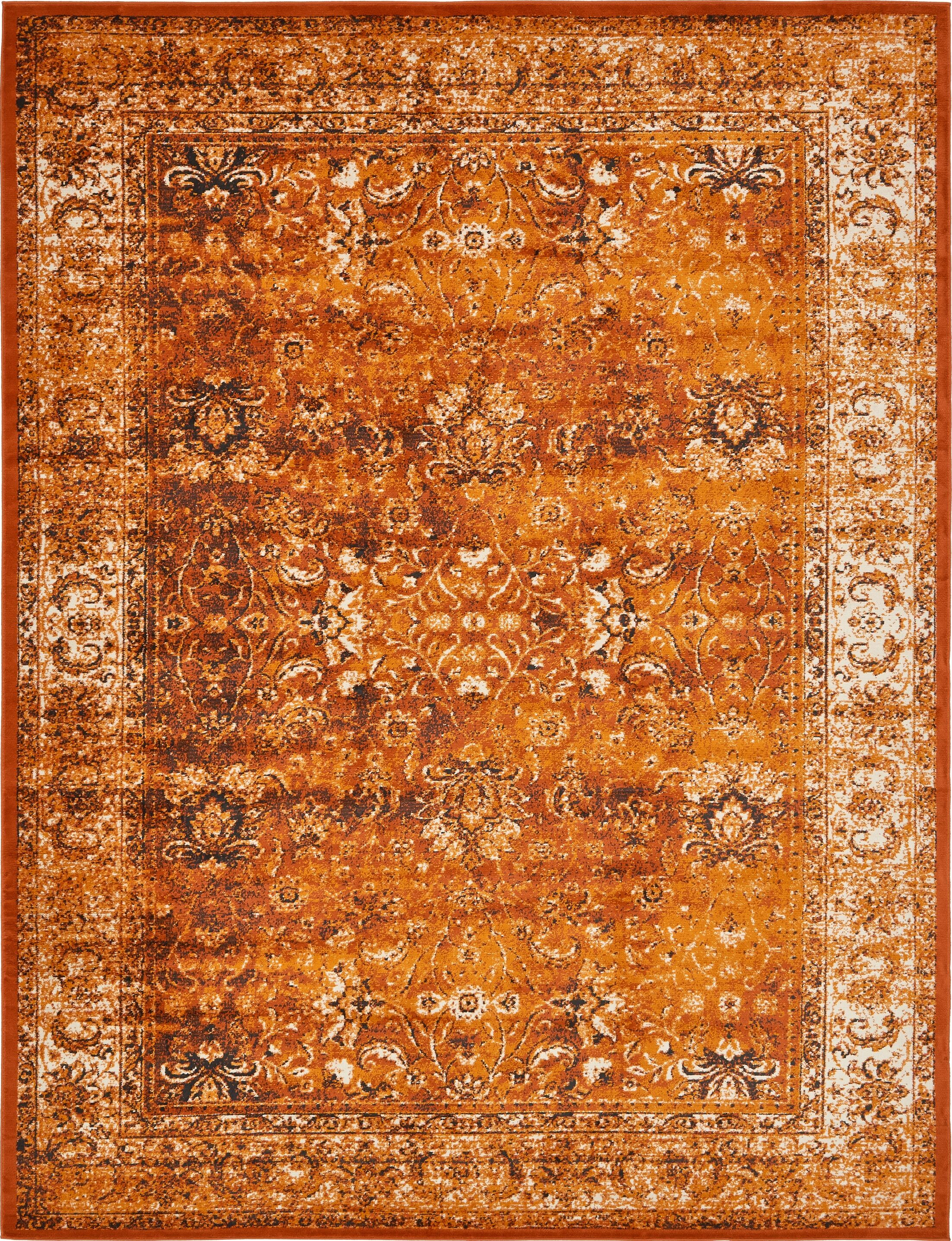 Neuilly Terracotta/Orange Area Rug Rug Size: 10' x 13'