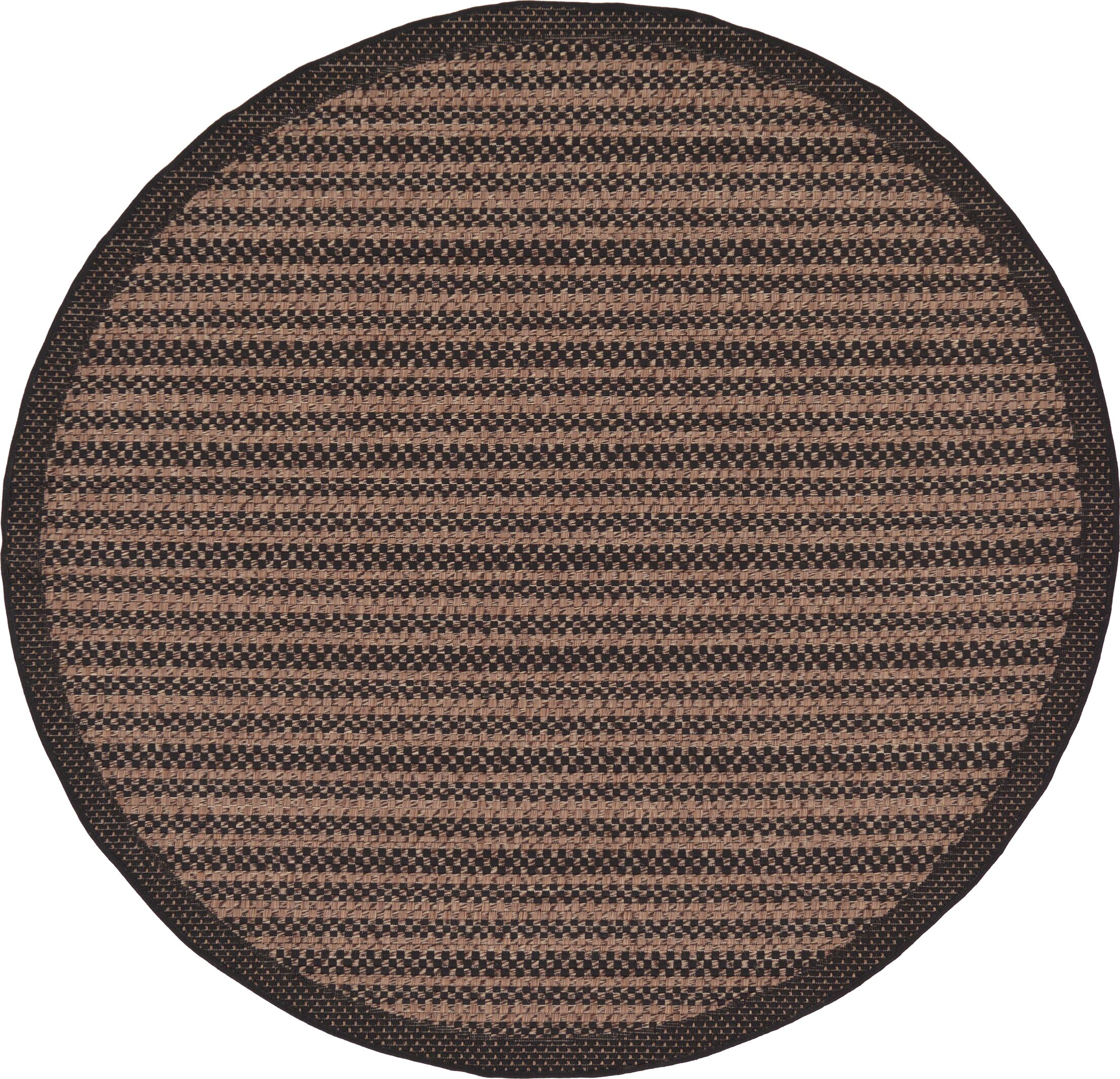 Cher Brown Outdoor Area Rug Rug Size: Round 6'