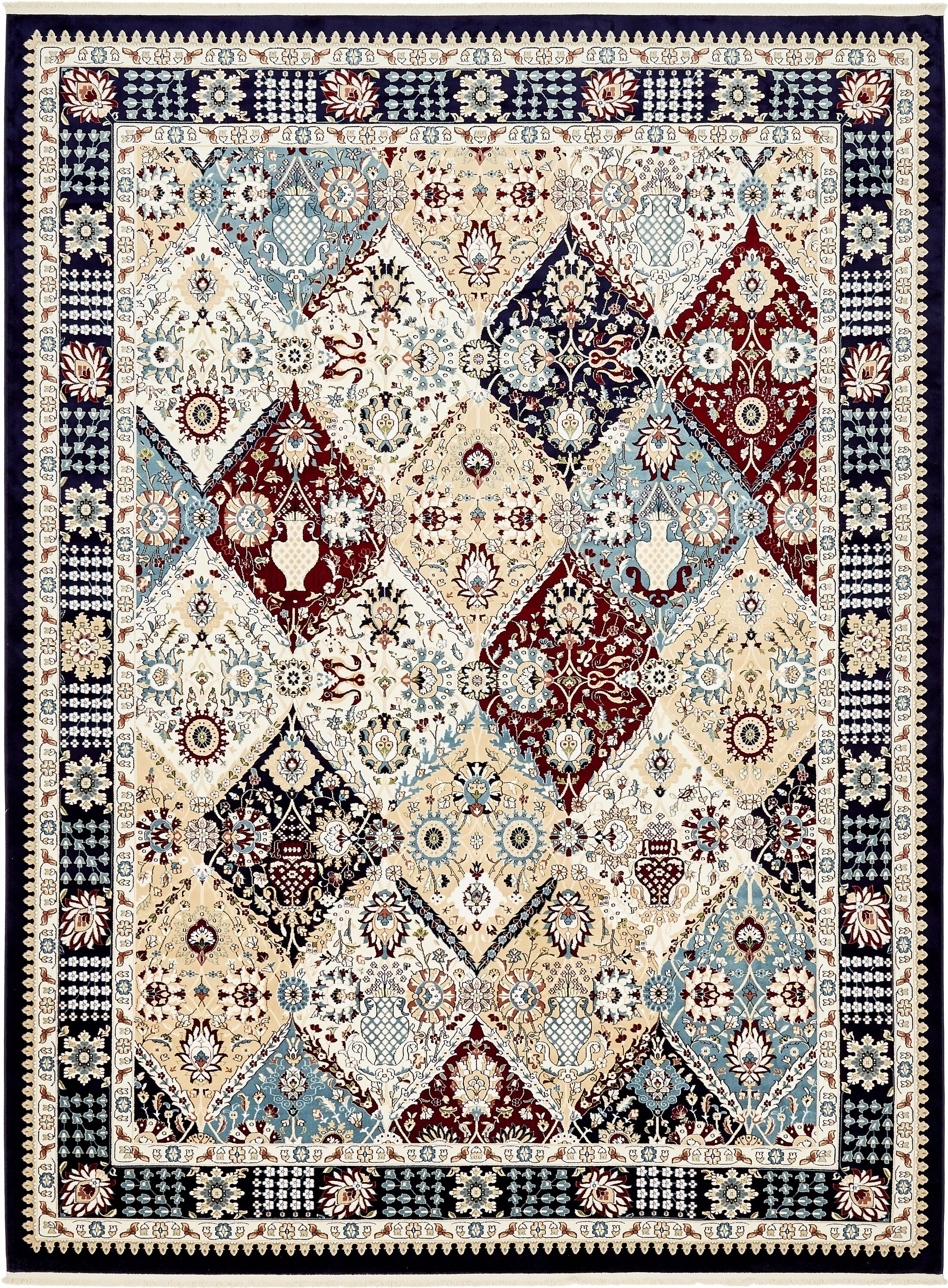 Rupe Navy Blue Area Rug Rug Size: Rectangle 10' x 13'
