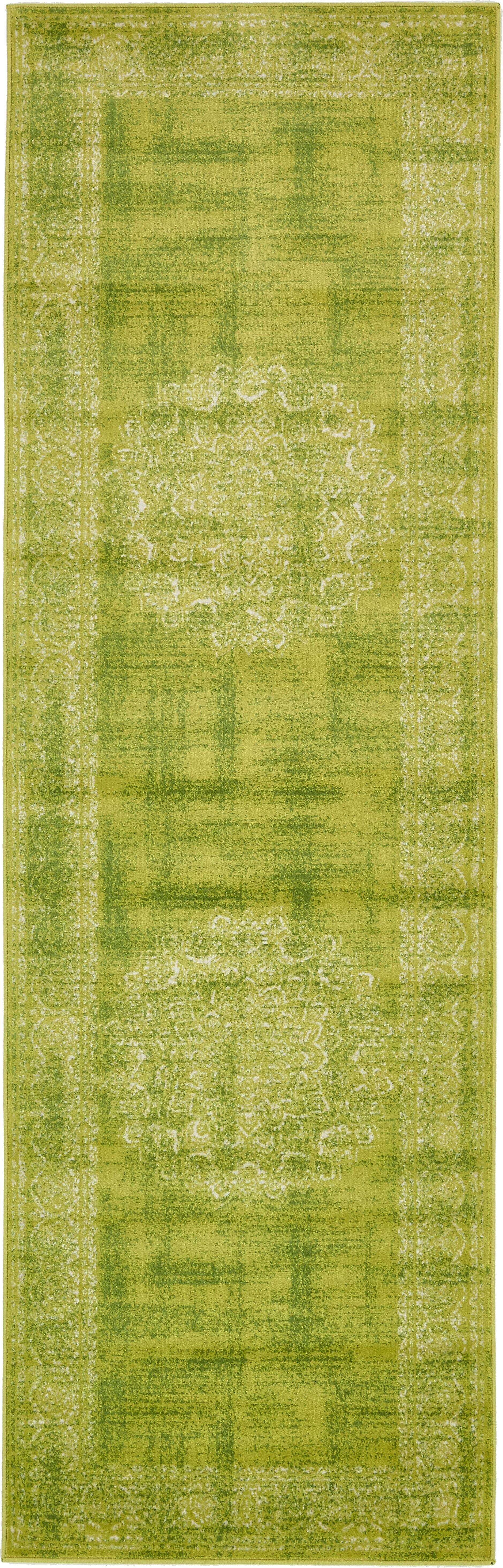 Neuilly Beige/Green Area Rug Rug Size: Runner 3' x 9'1
