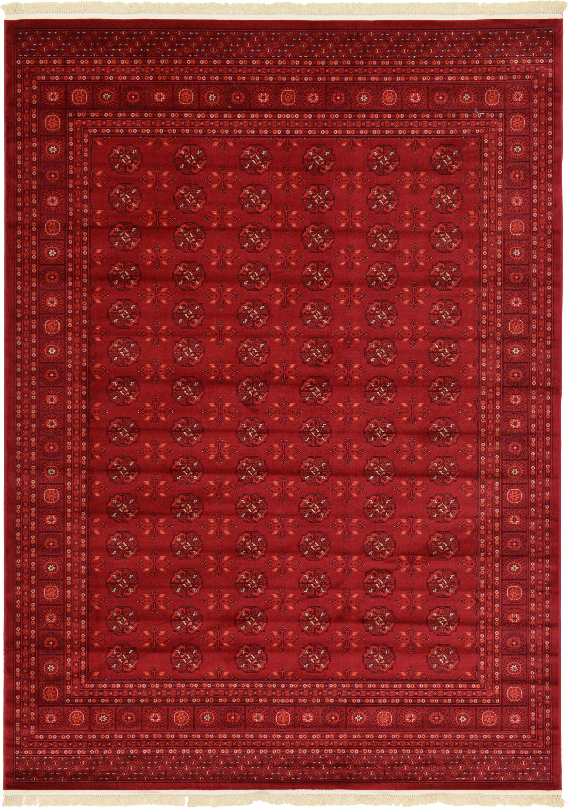 Kowloon Dark Red Area Rug Rug Size: Rectangle 8' x 11'