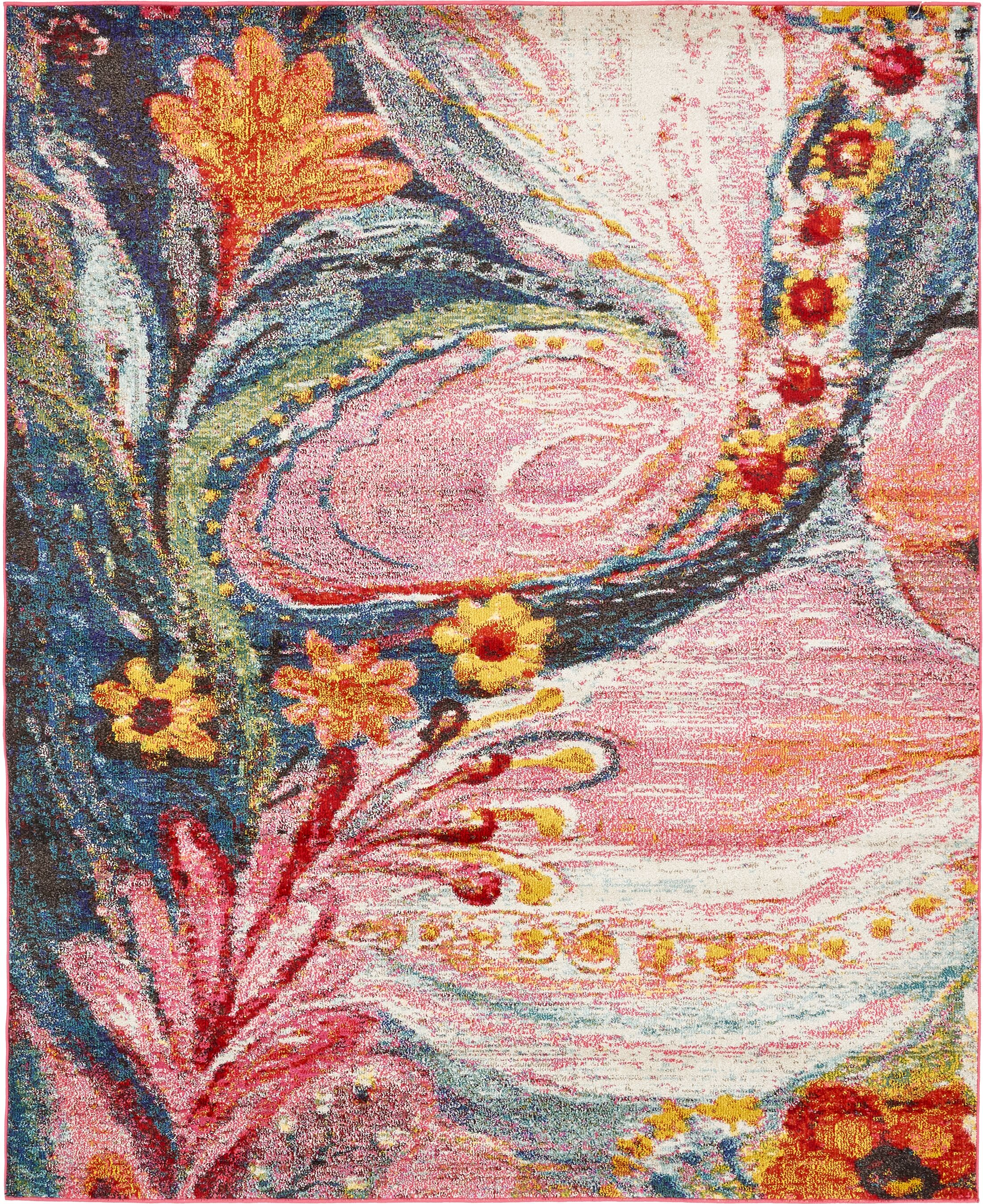 Sofia Pink Area Rug Rug Size: Rectangle 5' x 8'