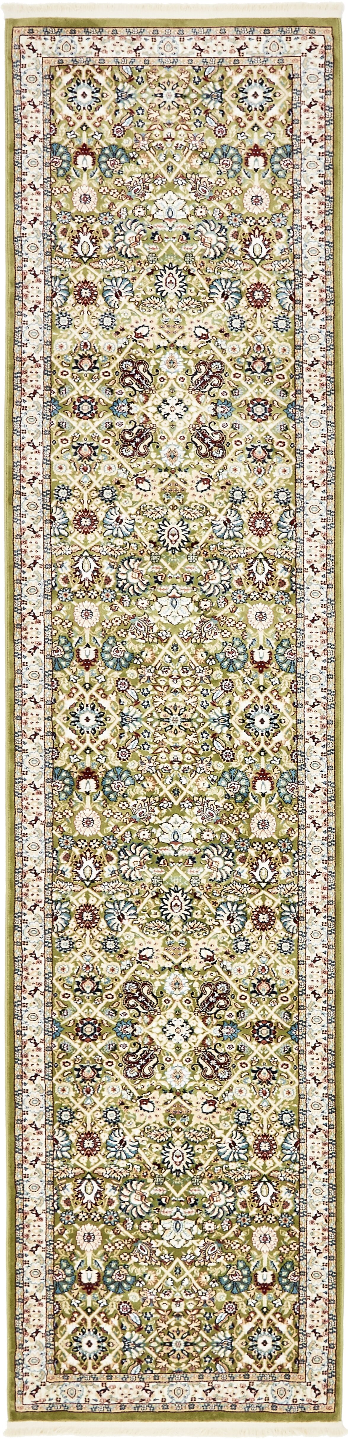 Quince Green/Tan Area Rug Rug Size: Runner 3' x 13'