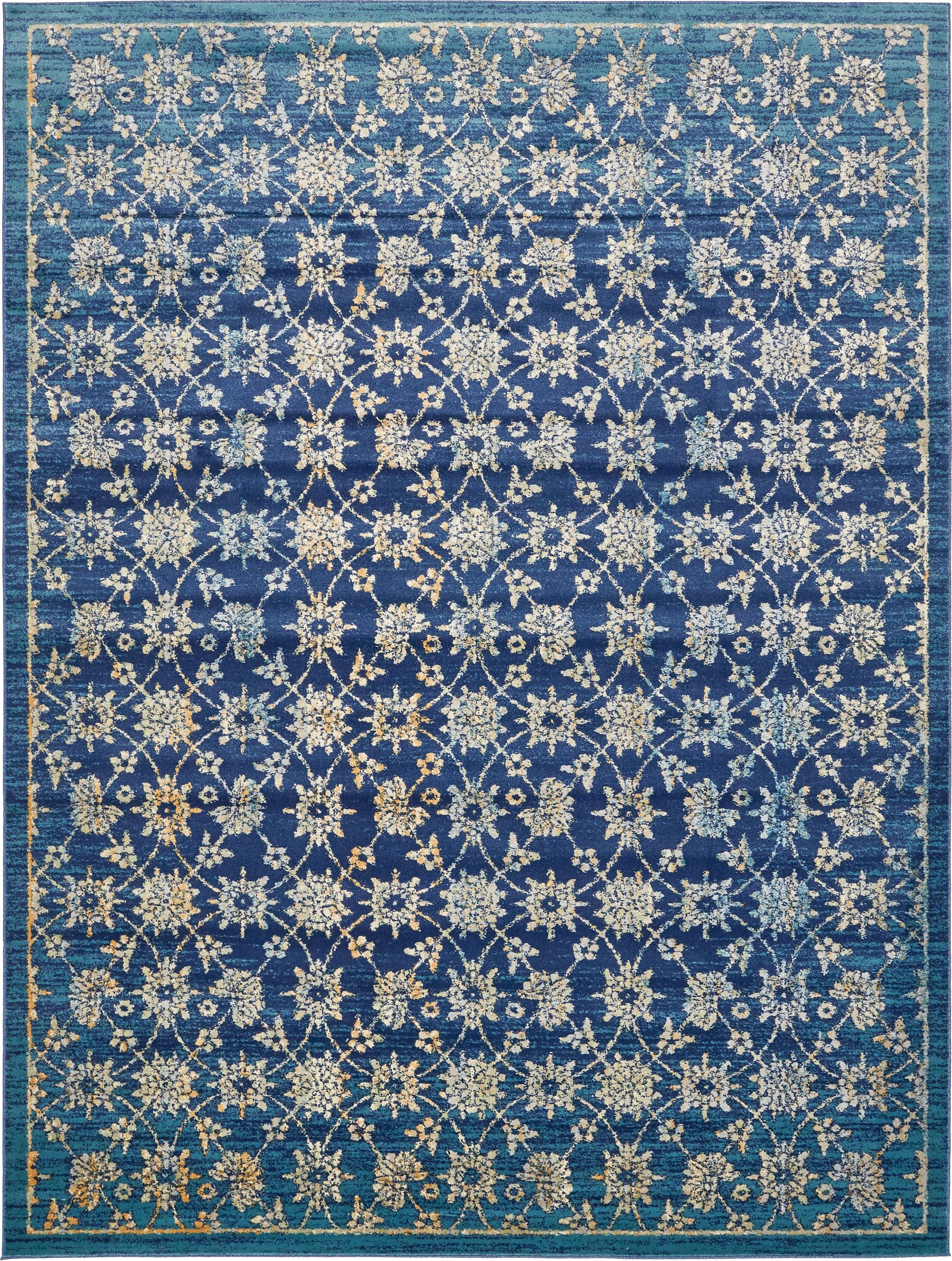 Geleen Blue Area Rug Rug Size: Rectangle 10' x 13'