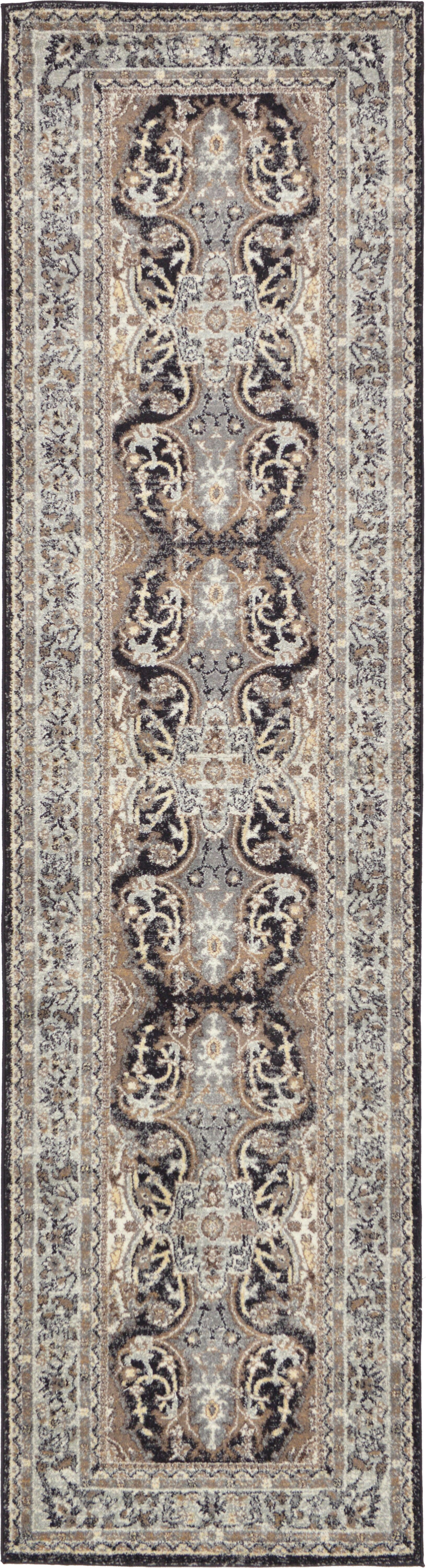 Sheppard Charcoal Area Rug Rug Size: Runner 2'7