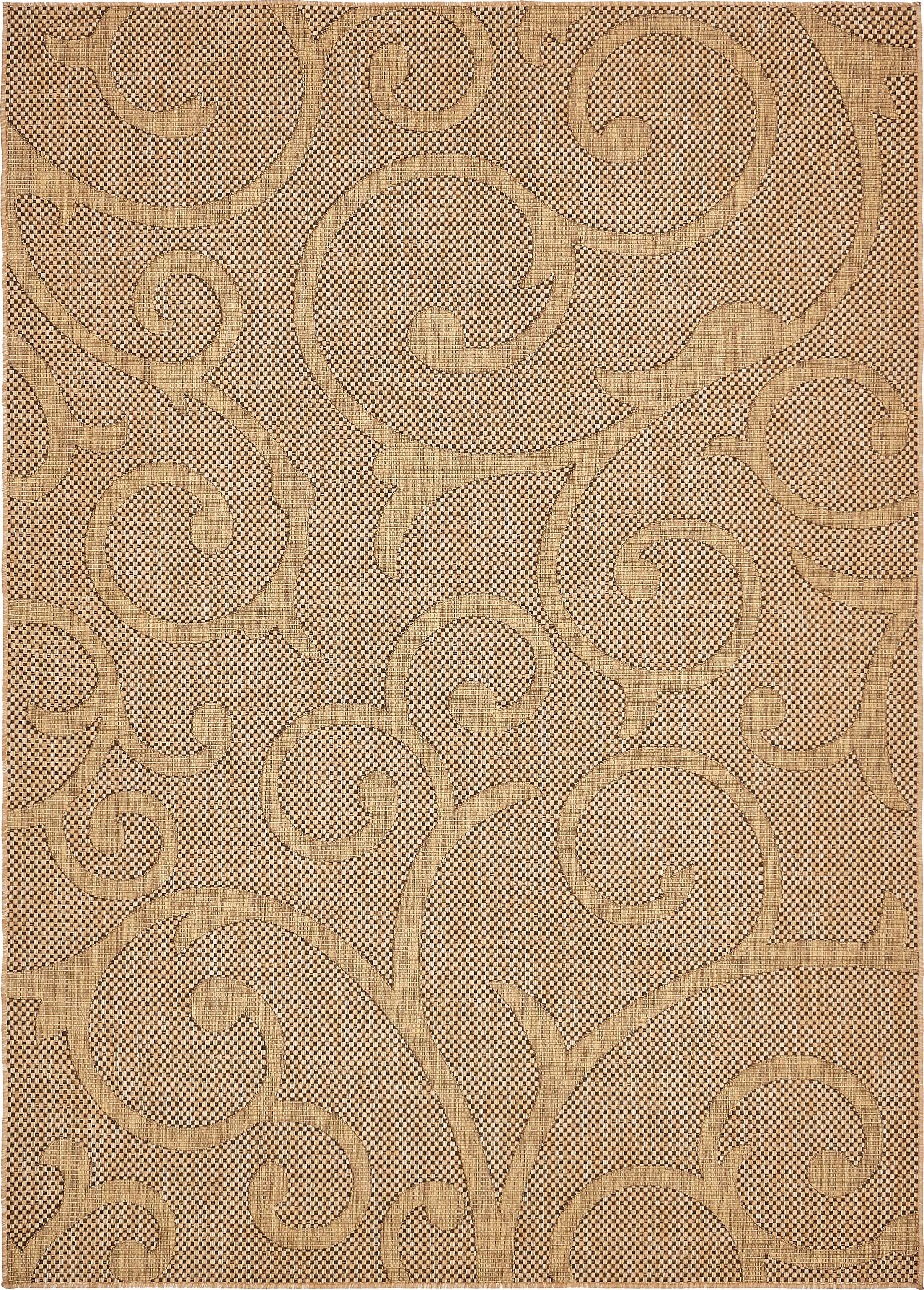 Pizano Light Brown Outdoor Area Rug Rug Size: Rectangle 7' x 10'