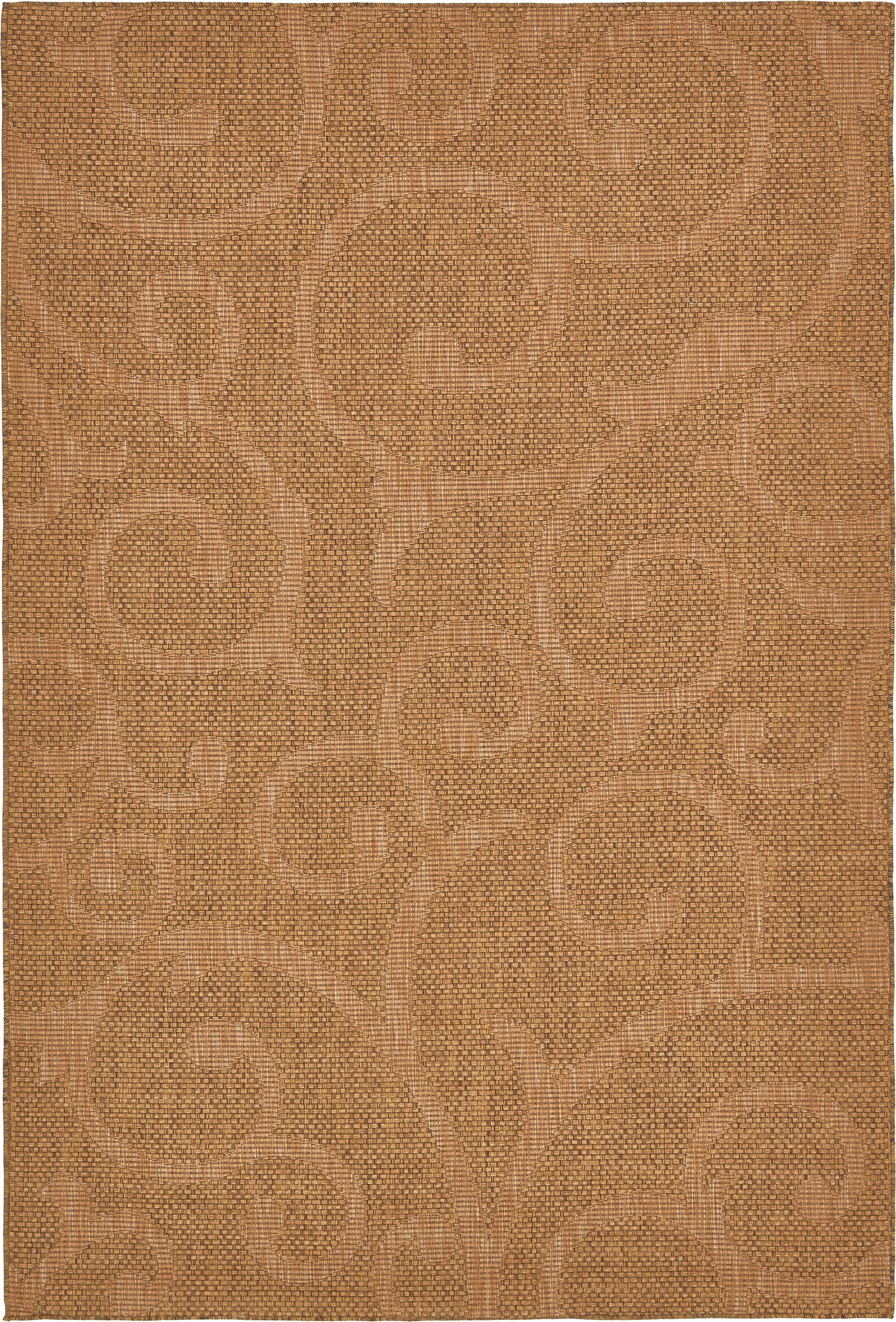 Kendari Brown Outdoor Area Rug Rug Size: Rectangle 6' x 9'