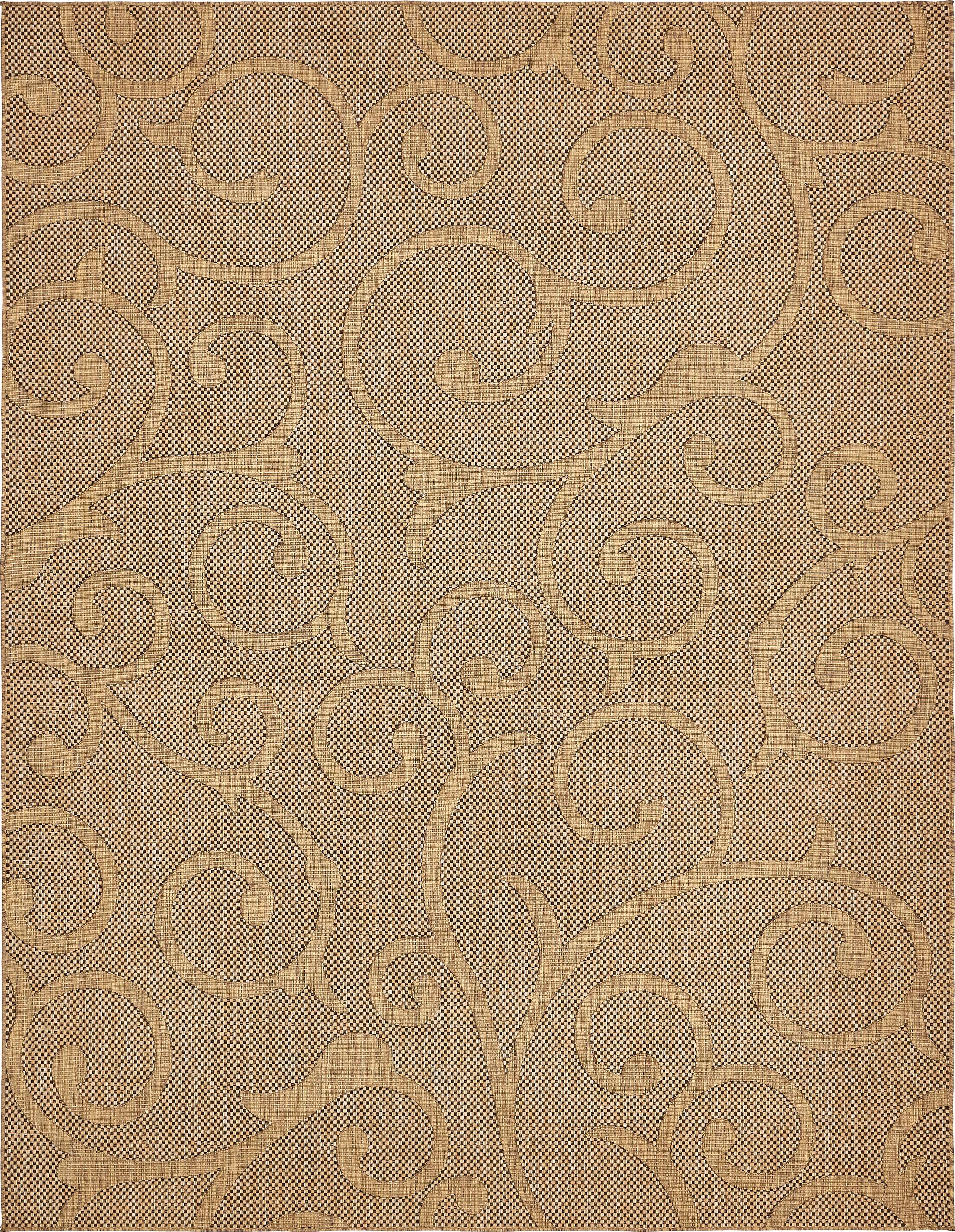 Pizano Light Brown Outdoor Area Rug Rug Size: Rectangle 9' x 12'