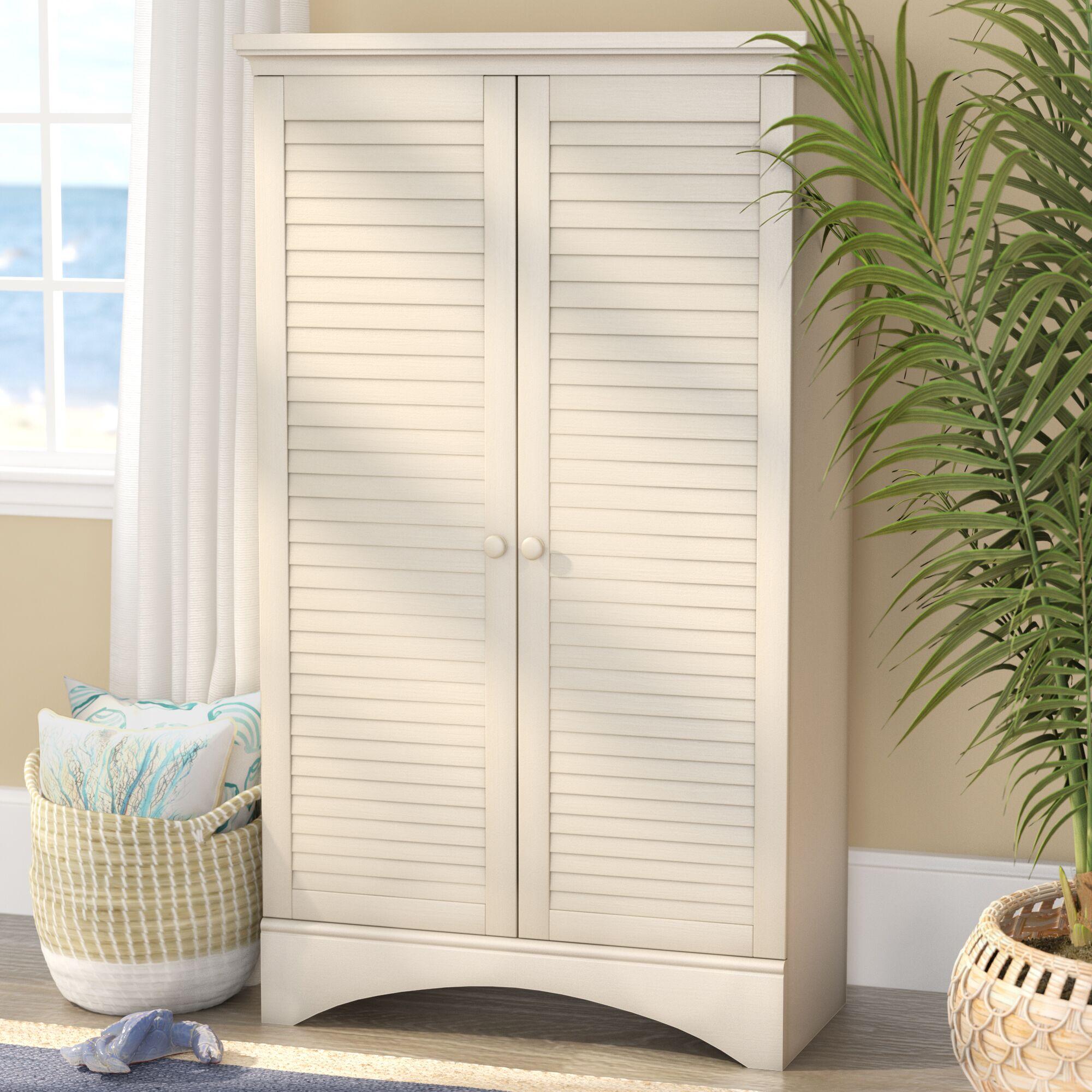 Pinellas 2 Door Armoire Color: Antique White