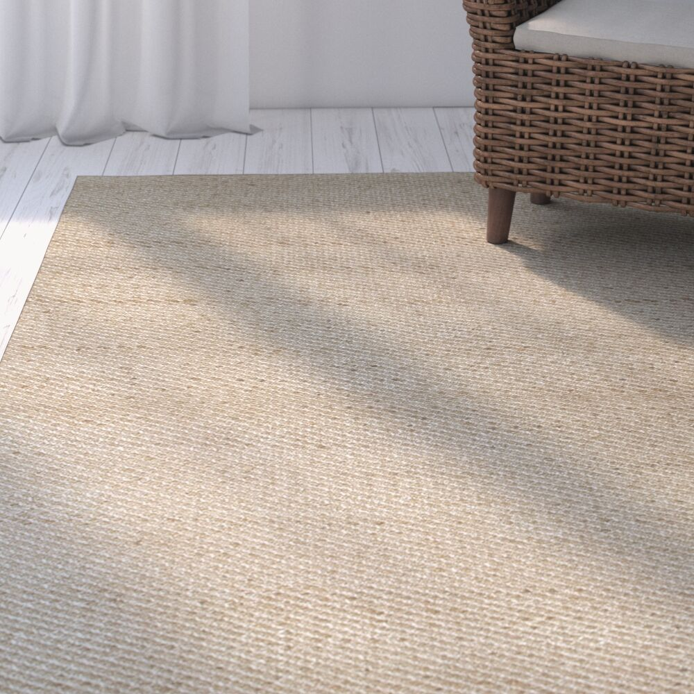 Ina Hand-Woven Beige Area Rug Rug Size: Rectangle 8' x 10'