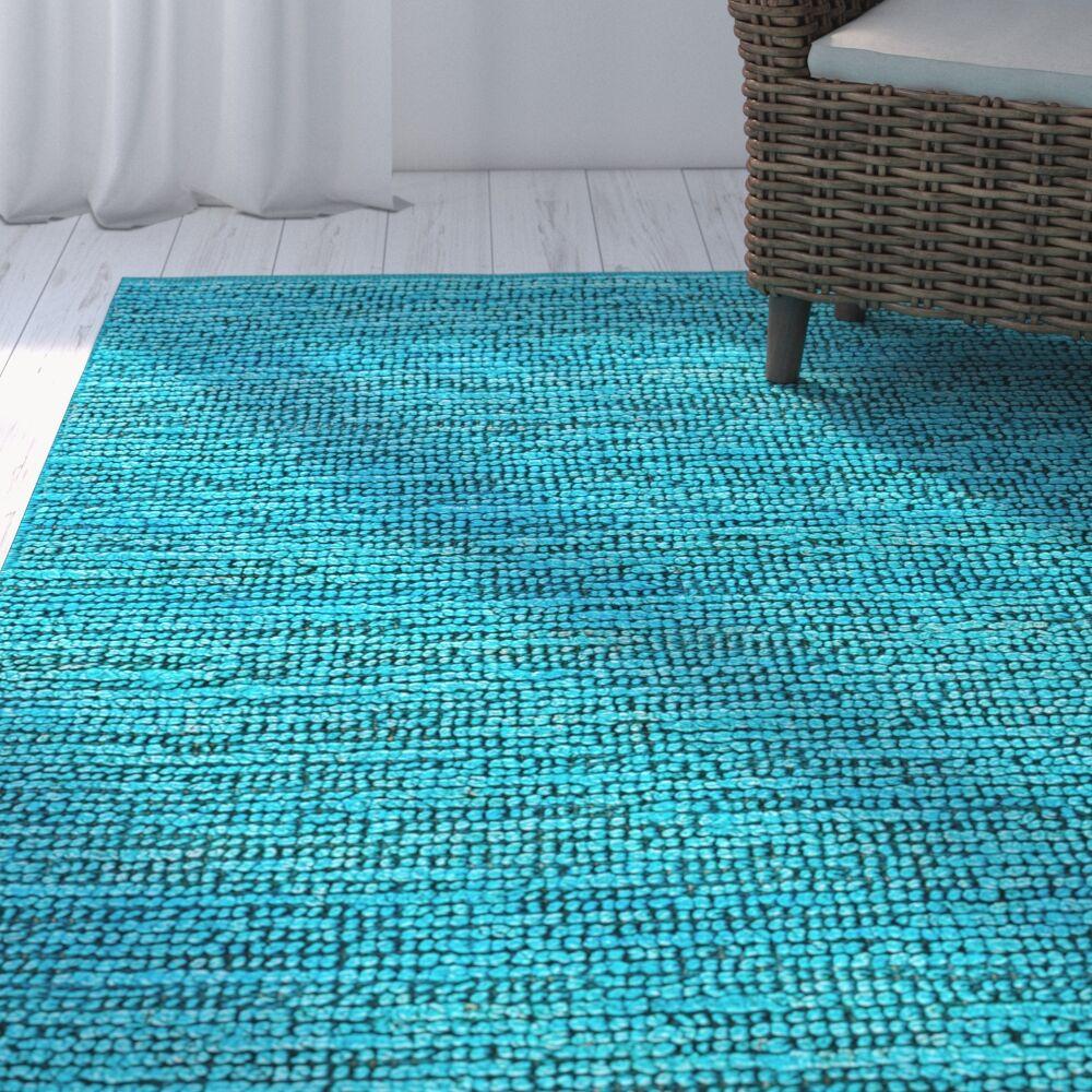 Patria Cool Aqua Area Rug Rug Size: Rectangle 9' x 12'