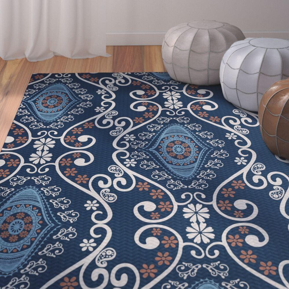Soluri Navy Blue Indoor/Outdoor Area Rug Rug Size: Rectangle 3' x 5'