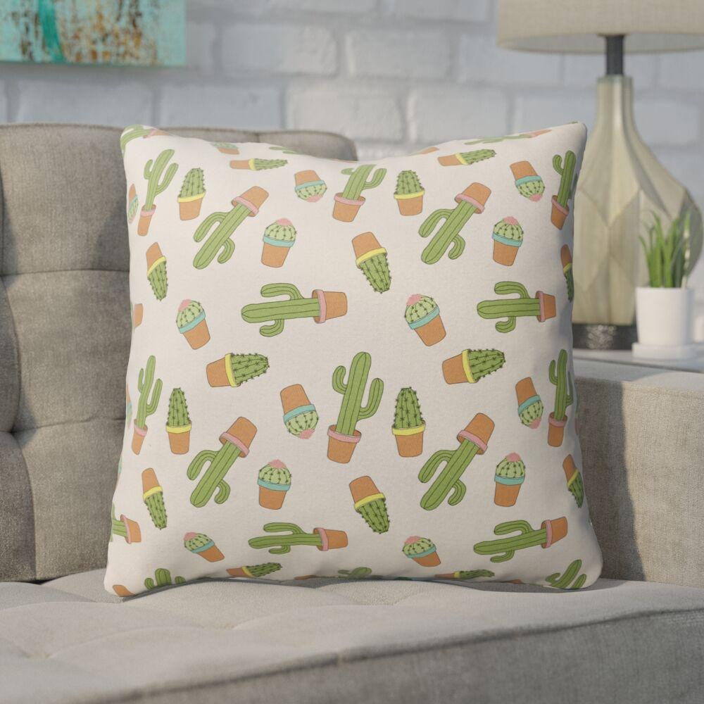 Geter Indoor/Outdoor Throw Pillow Size: 18
