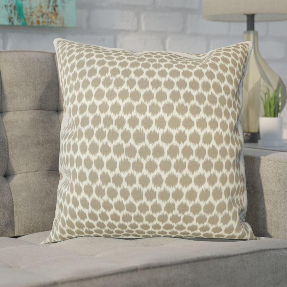 Gracie Splotch Outdoor Throw Pillow Color: Tortilla