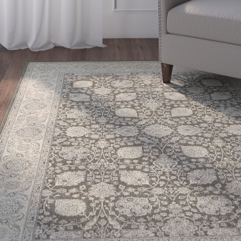 Cynthiana Brown/Ivory Area Rug Rug Size: Rectangle 3'10