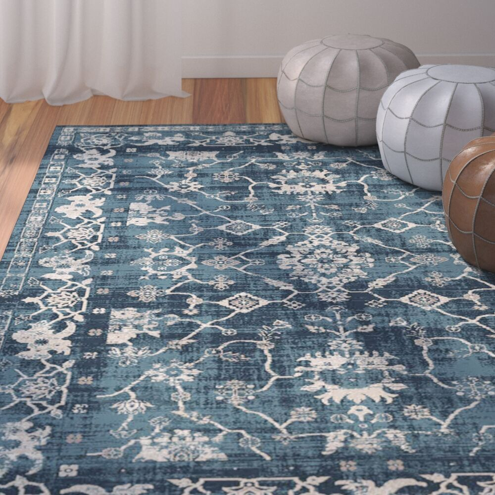 Josue Hand-Woven Blue Area Rug Rug Size: 7'6'' x 10'3''