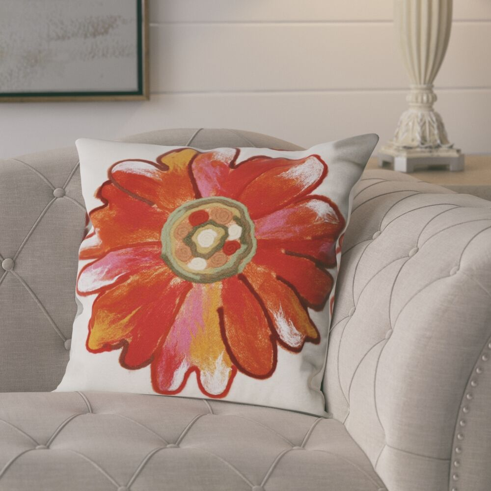 Mcallier Daisy Outdoor Throw Pillow Size: 20