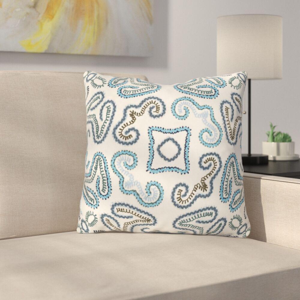 Oak Hill Cotton Throw Pillow Size: 18