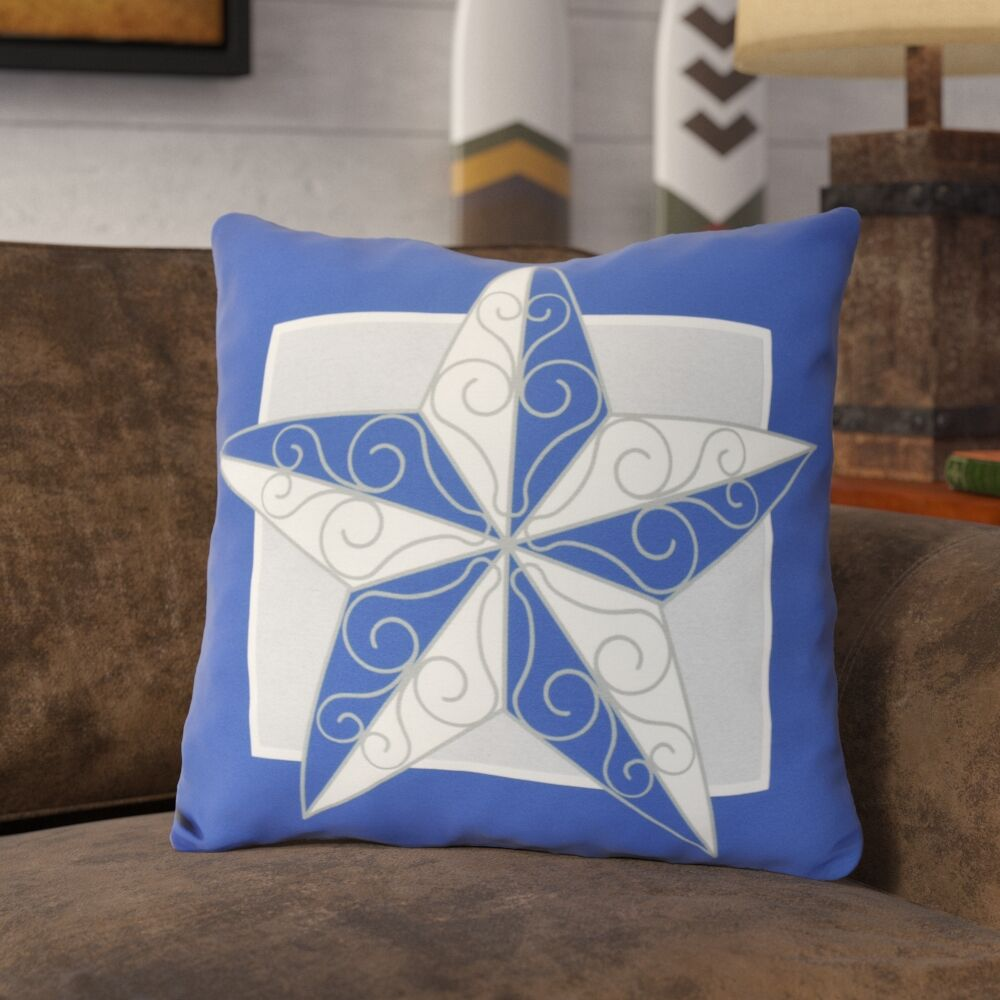 Meigs Night Star Throw Pillow Color: Royal Blue, Size: 20