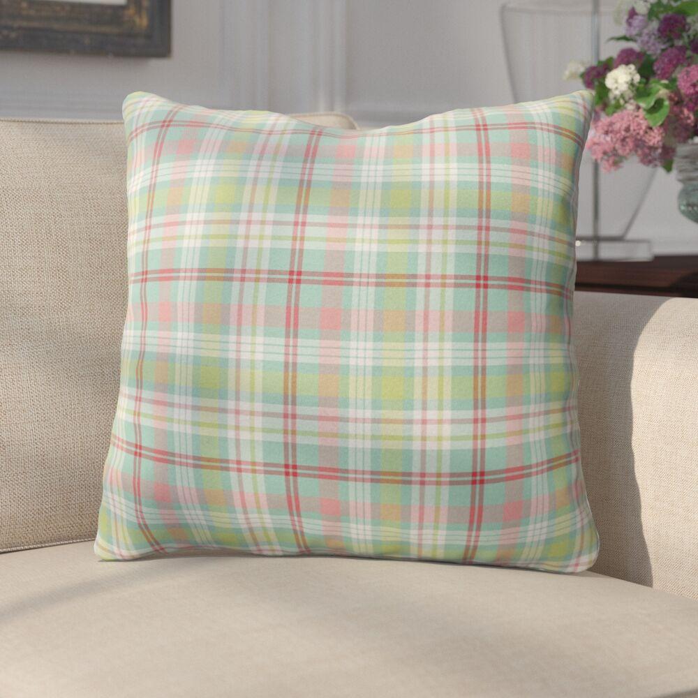 Mollien Plaid Indoor/Outdoor Throw Pillow Size: 26