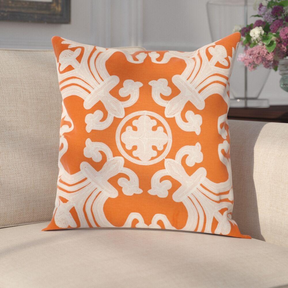 Goodrum 100% Cotton Throw Pillow Size: 18
