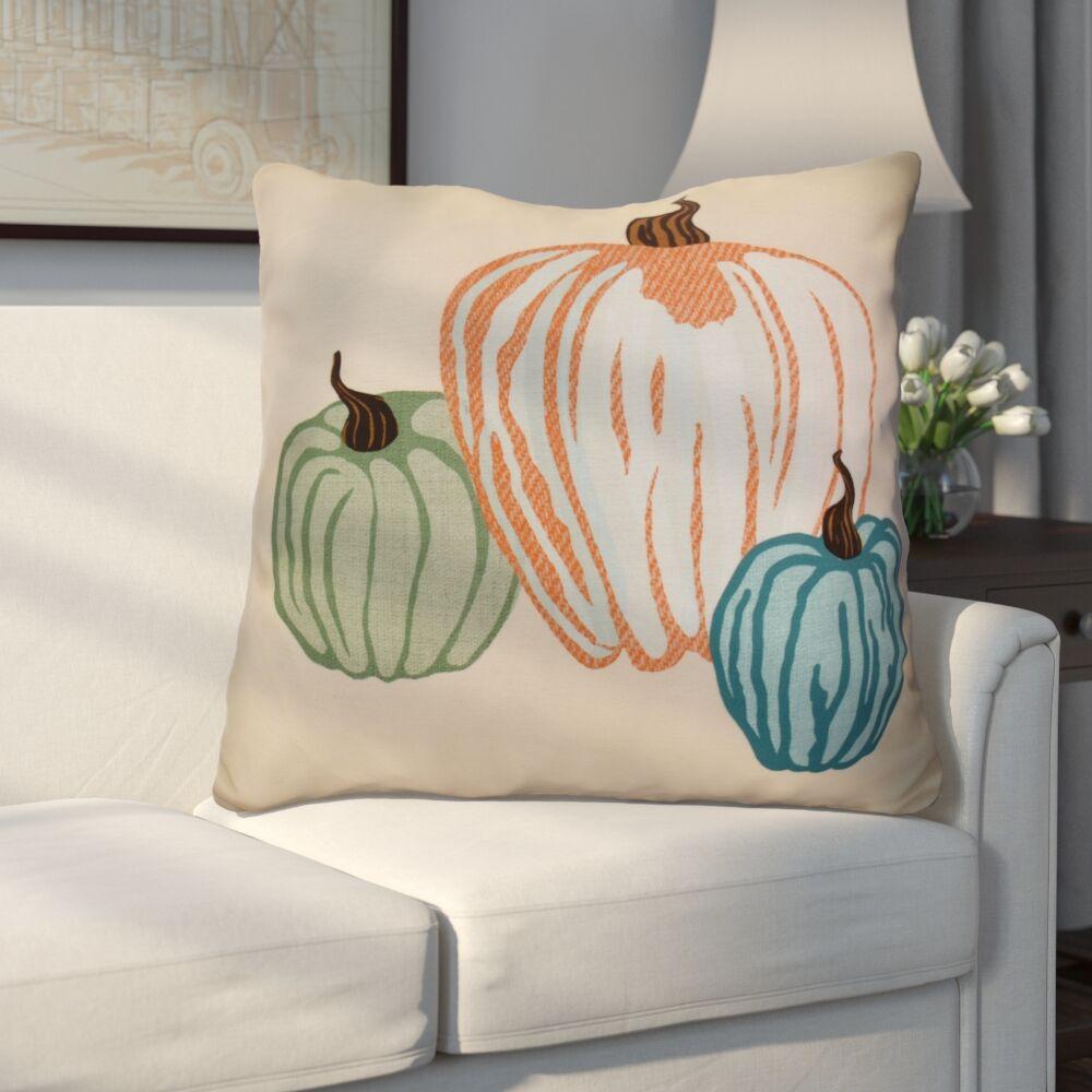 Miller Pumpkin Spice Geometric Euro Pillow Color: Cream