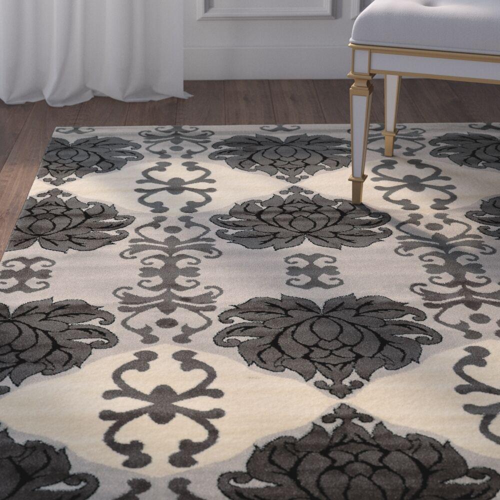 Margerite Grey Area Rug Rug Size: Rectangle 8' x 10'