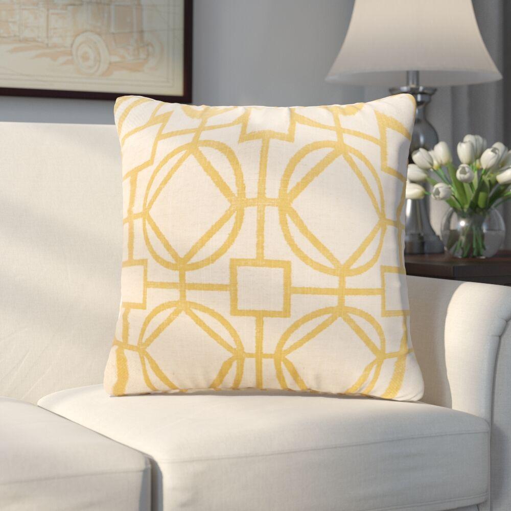 Applewood Throw Pillow Color: Nolo Lemon, Size: 26