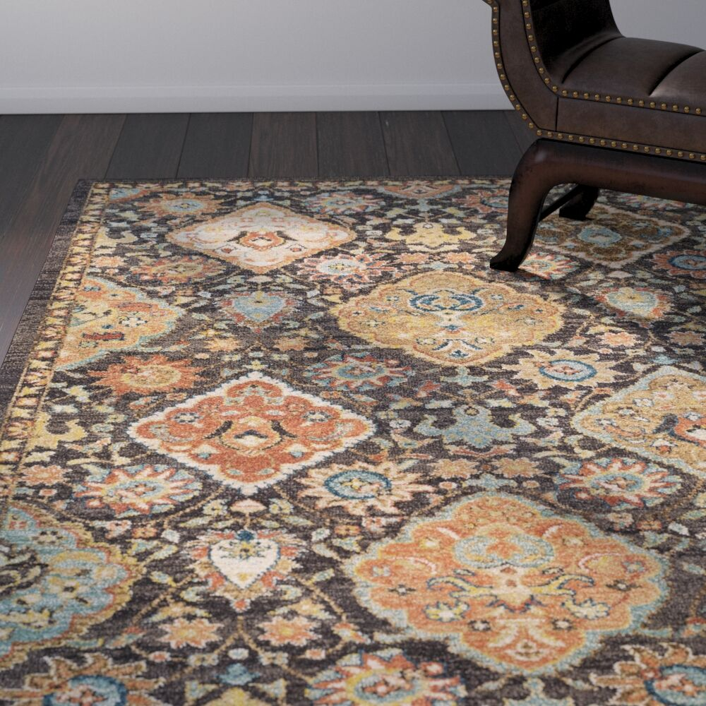 Naranjo Brown Area Rug Rug Size: Rectangle 9' 3