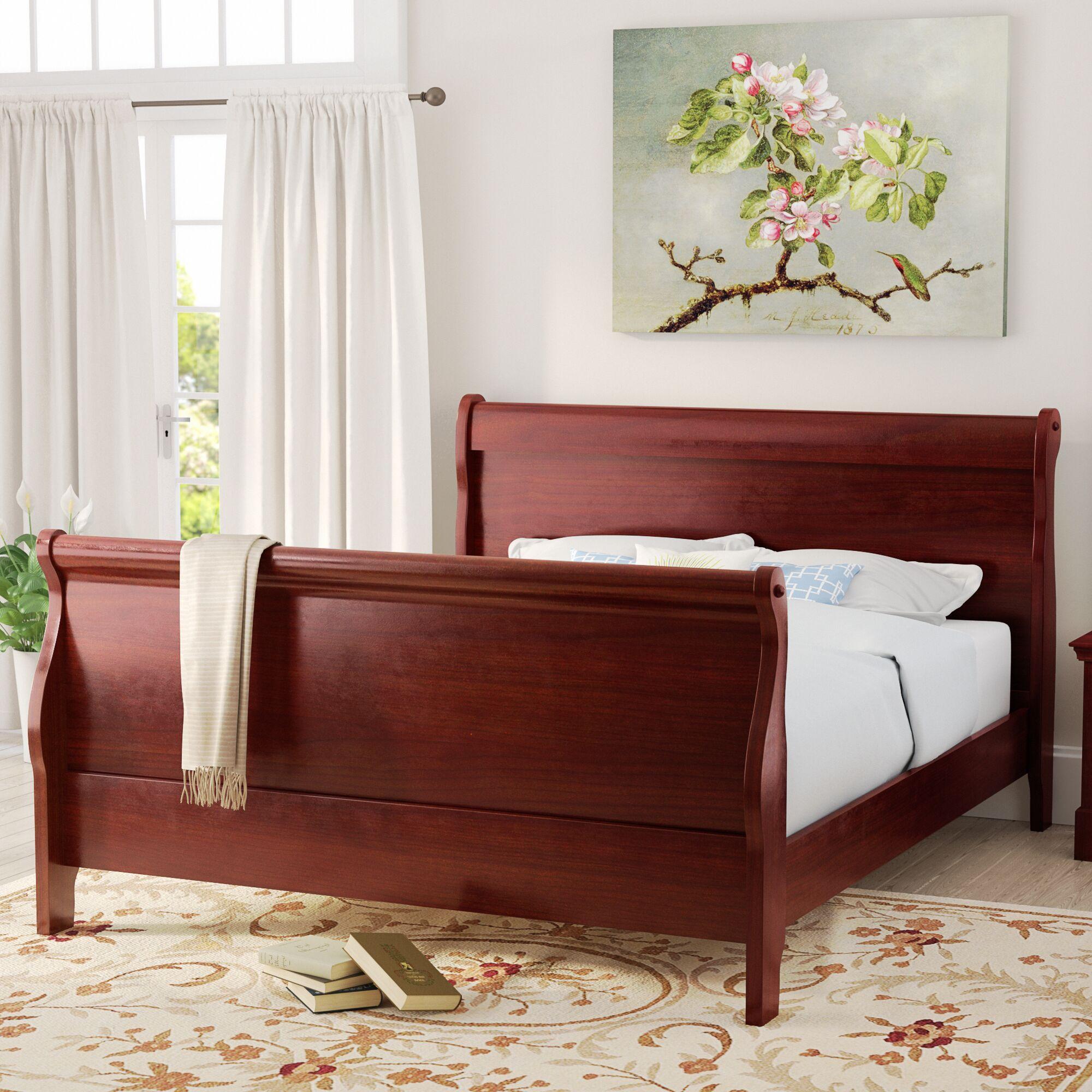 Tina Contemporary Sleigh Bed Size: King