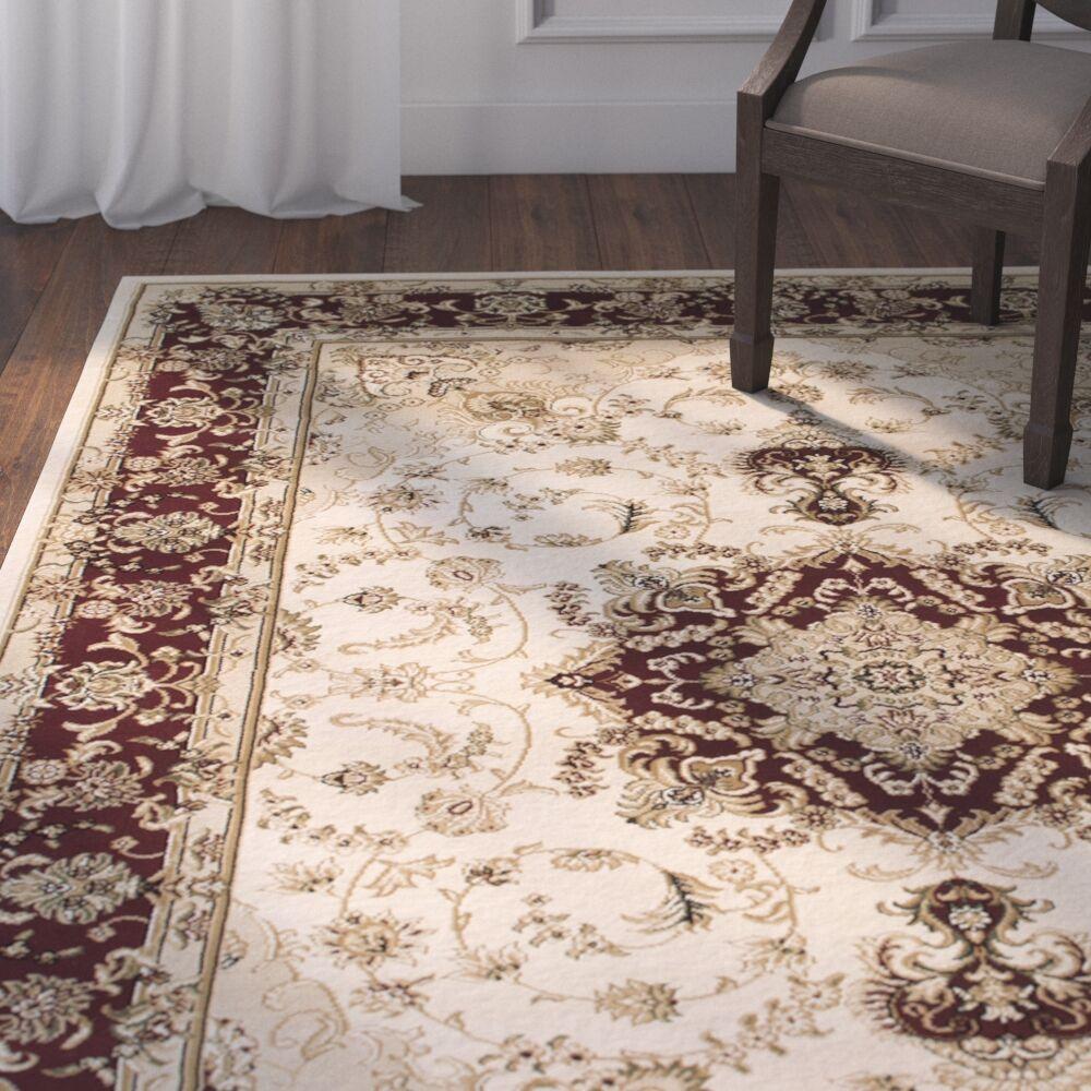 Arison High-End Ultra-Dense Woven Ivory Indoor Area Rug Rug Size: 5'3