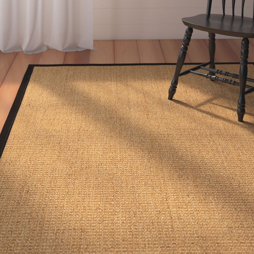 Belves Handwoven Beige Area Rug Rug Size: Rectangle 8' x 10'