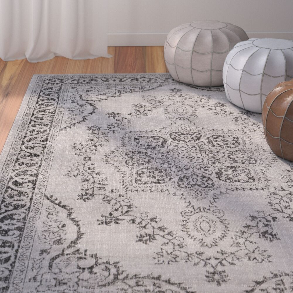 Randhir Gray Area Rug Rug Size: Rectangle 7'10