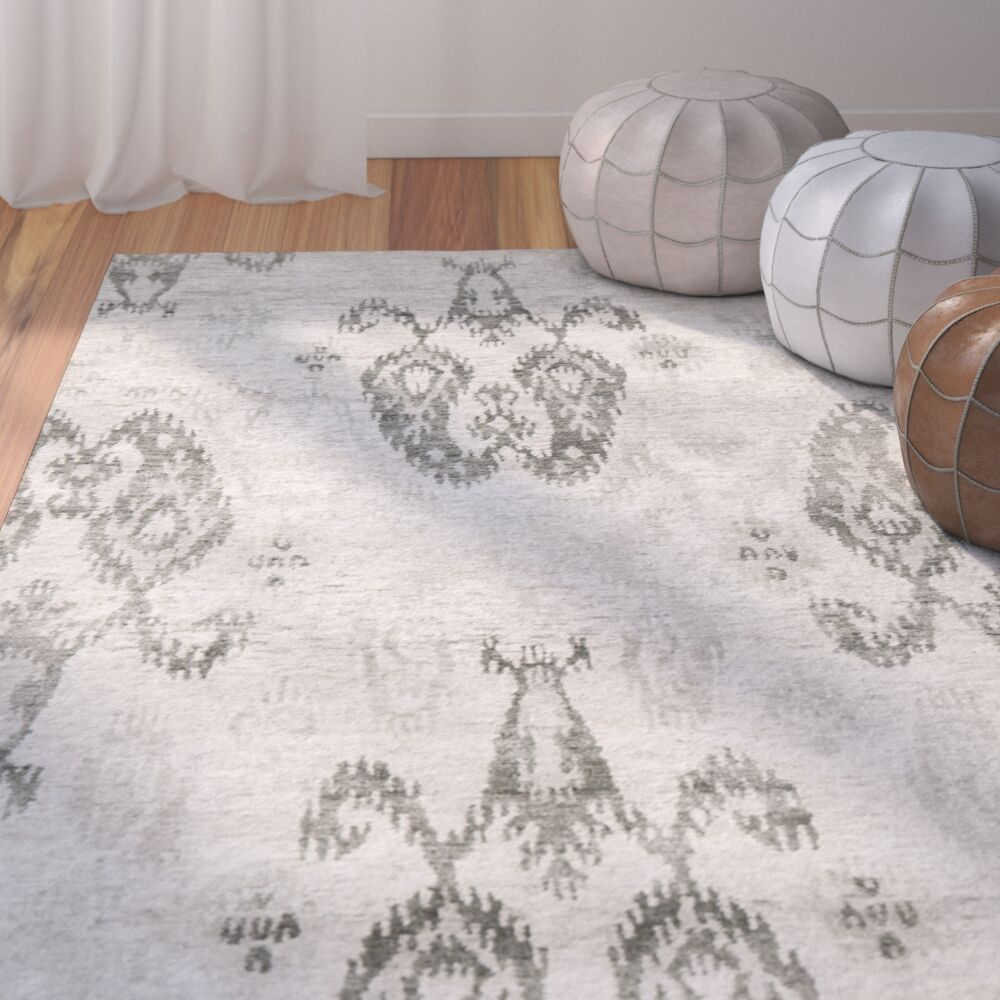 Stafford Hand-Knotted Silver Area Rug