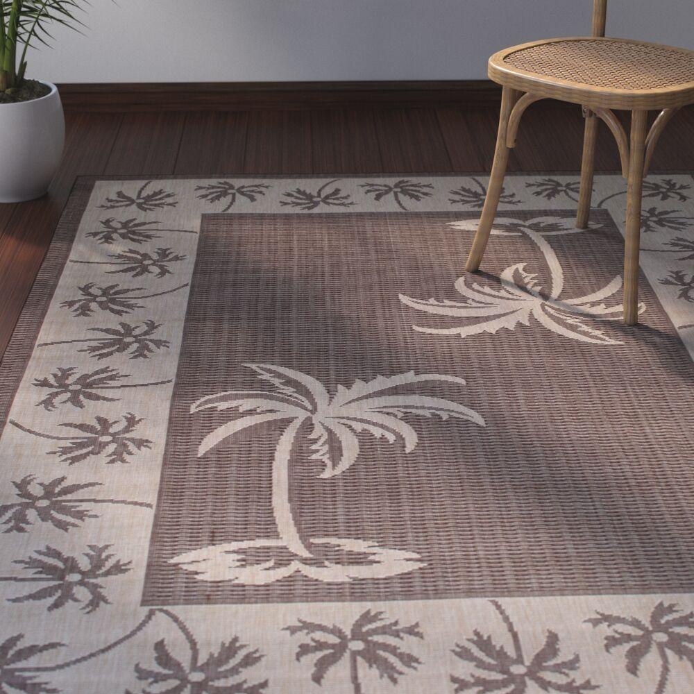 Granada Chocolate Indoor/Outdoor Area Rug Rug Size: 5' x 7'