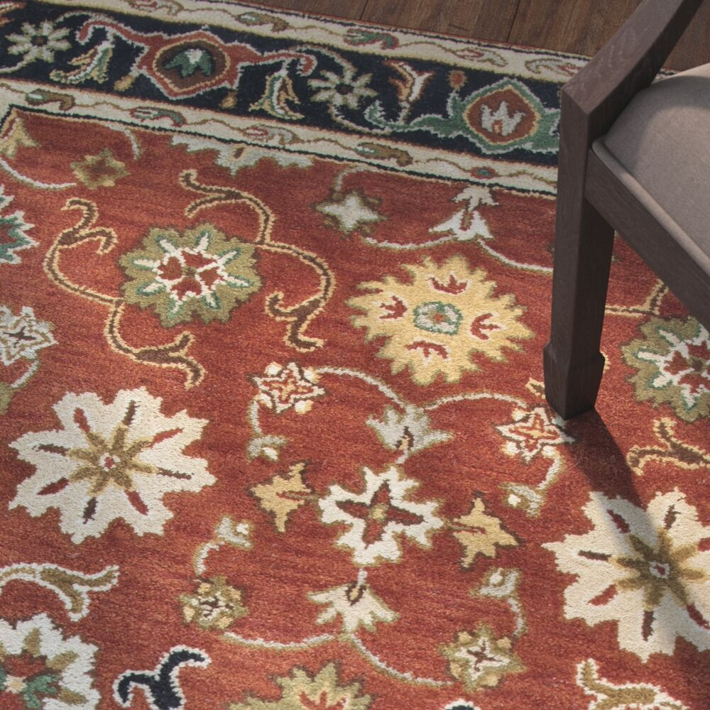 Alto Hand-Tufted Red Area Rug Rug Size: Rectangle 8' x 10'