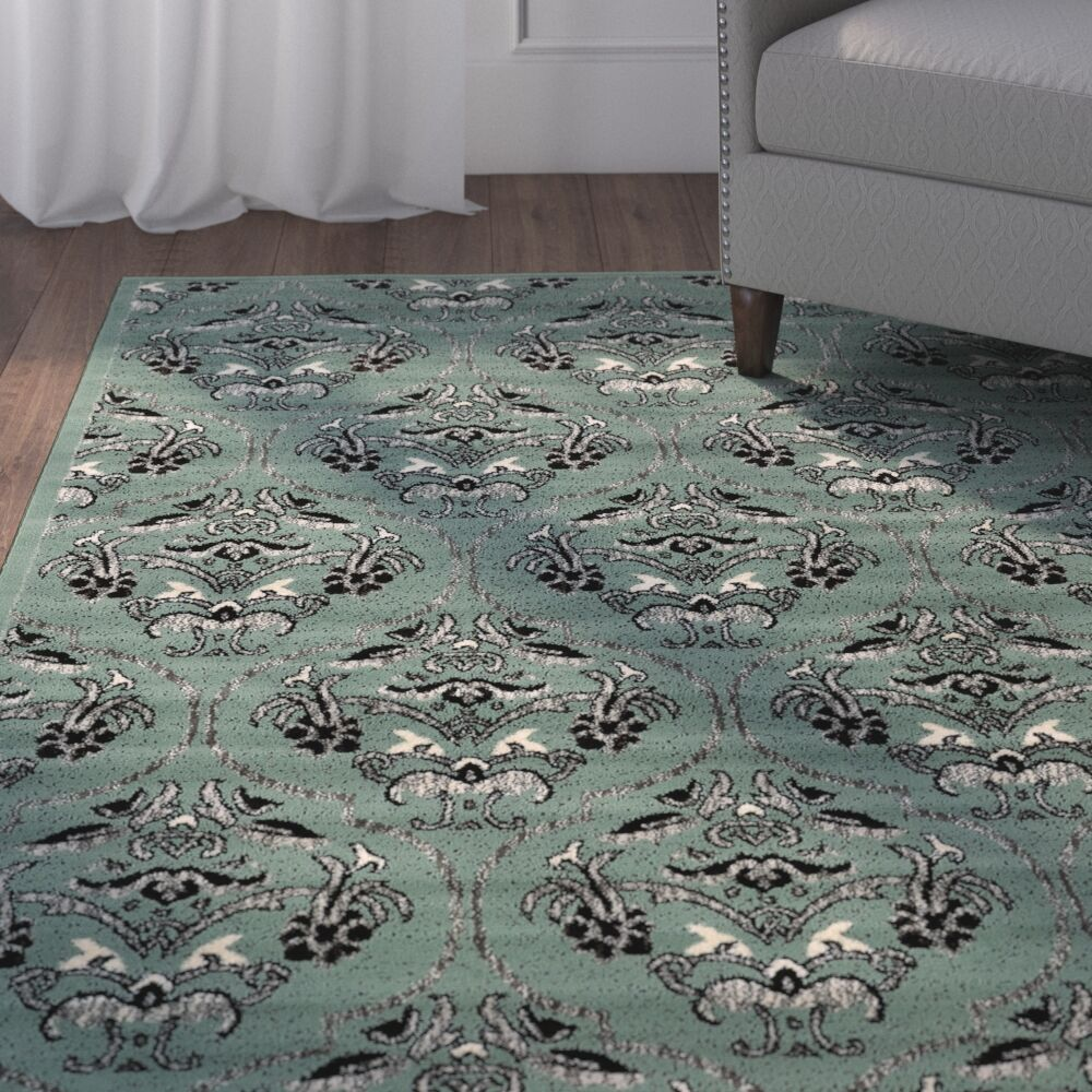 Bloomingdale Blue Area Rug Rug Size: Rectangle 8' x 10'