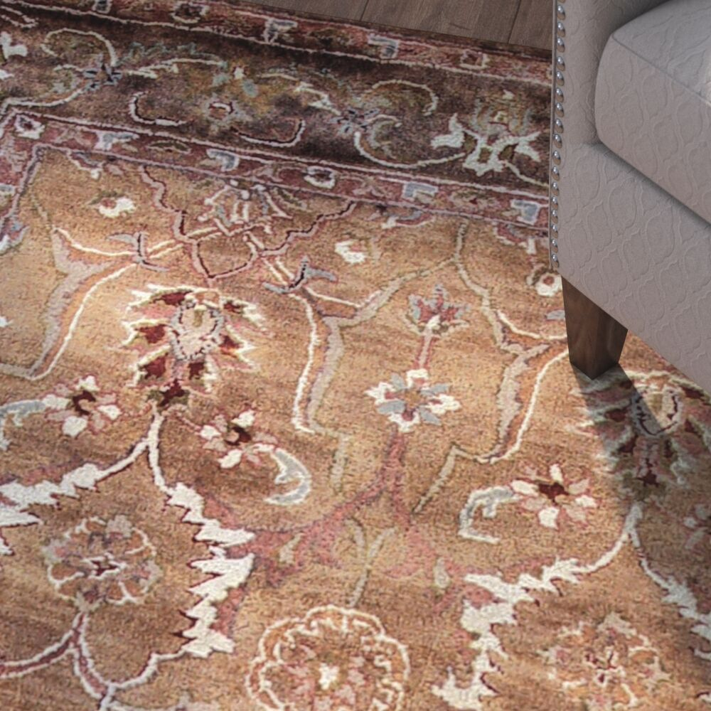 Gattis Hand-Tufted Brown Area Rug Rug Size: Rectangle 9' x 12'