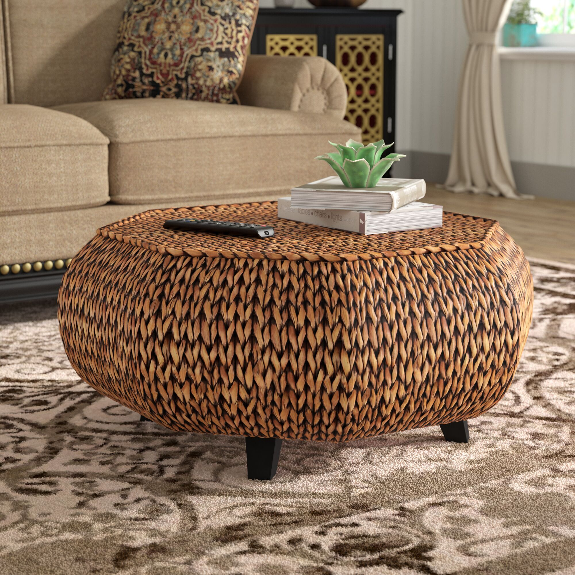 Nobles Octagonal Coffee Table Color: Gold