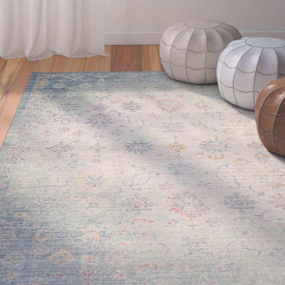Chauncey Seafoam Area Rug Rug Size: Rectangle 3' x 12'