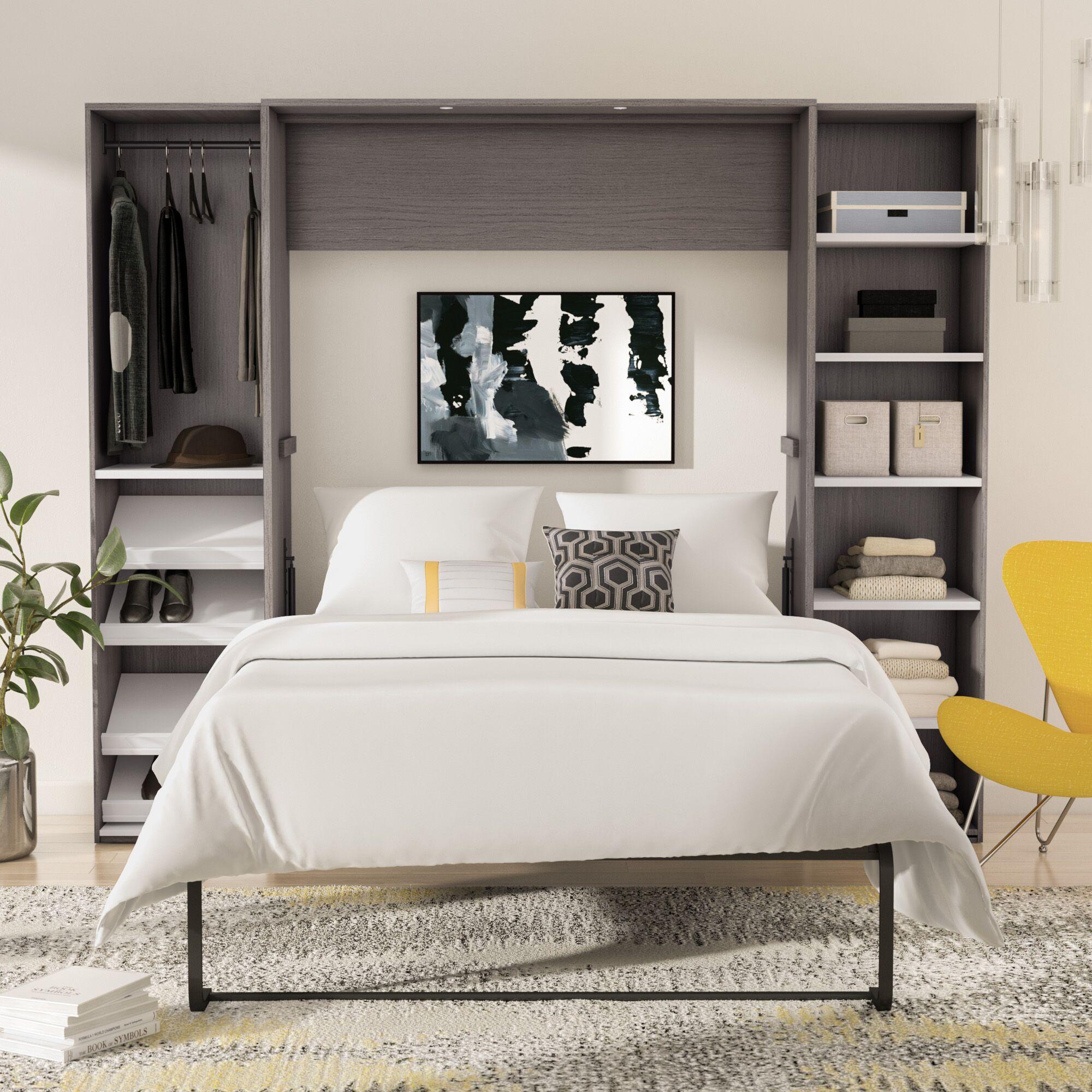 Medan Classic Murphy Bed Size: Queen, Color: Bark Gray