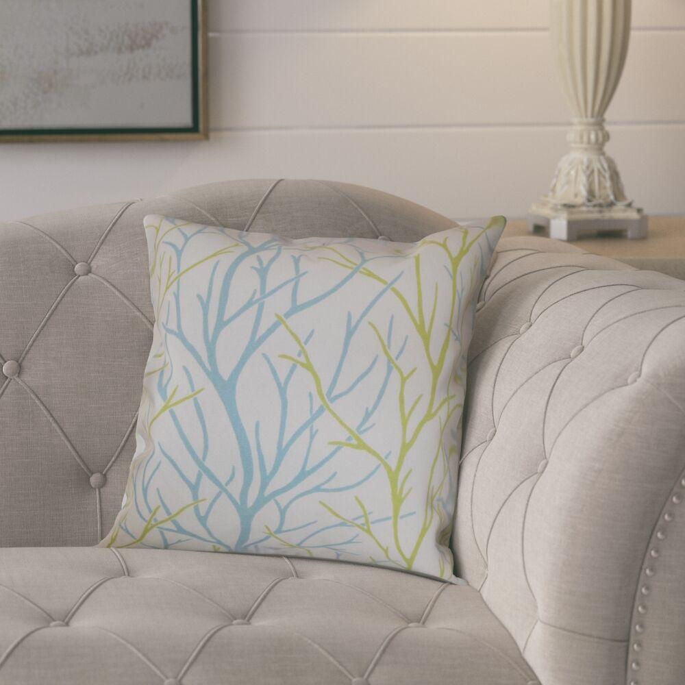 Camino 100% Cotton Throw Pillow Color: Aqua / Green, Size: 20