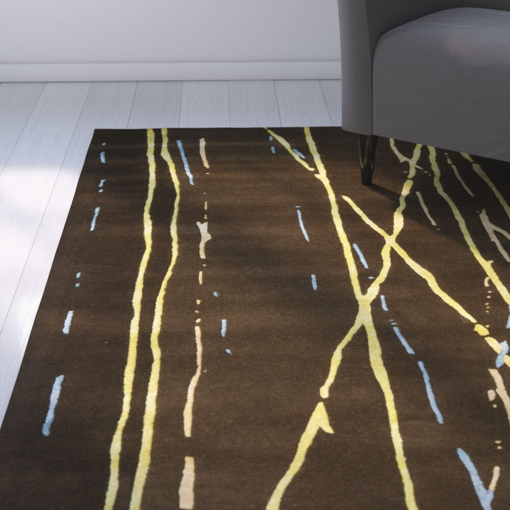 Armstrong Brown / Yellow Rug Rug Size: Round 6'